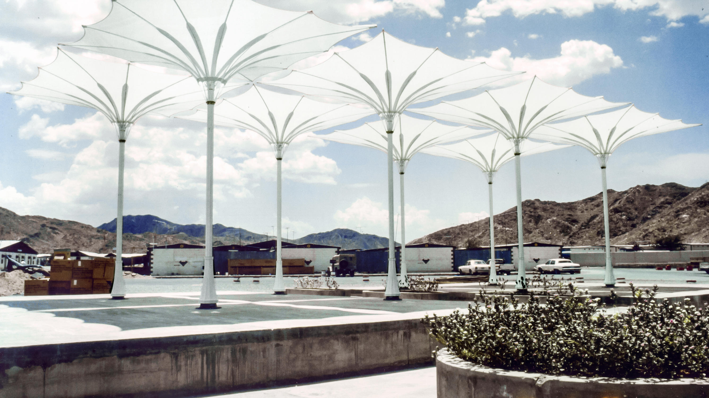 funnel umbrella textile membrane facade systems from