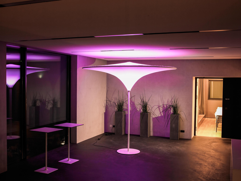 LIGHT & ACOUSTIC UMBRELLA - Free-standing lights from Koch Membranen