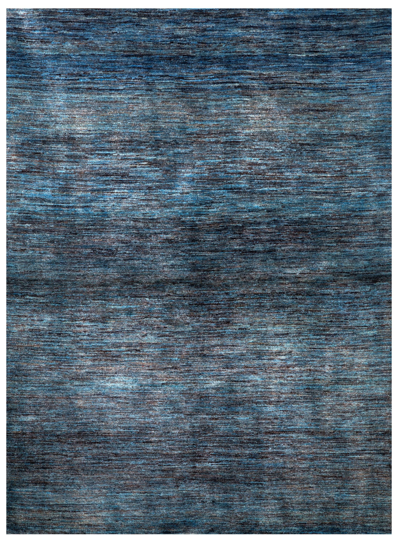 Gabbehs Abstract Plain Abrash Blue By Zollanvari Rugs