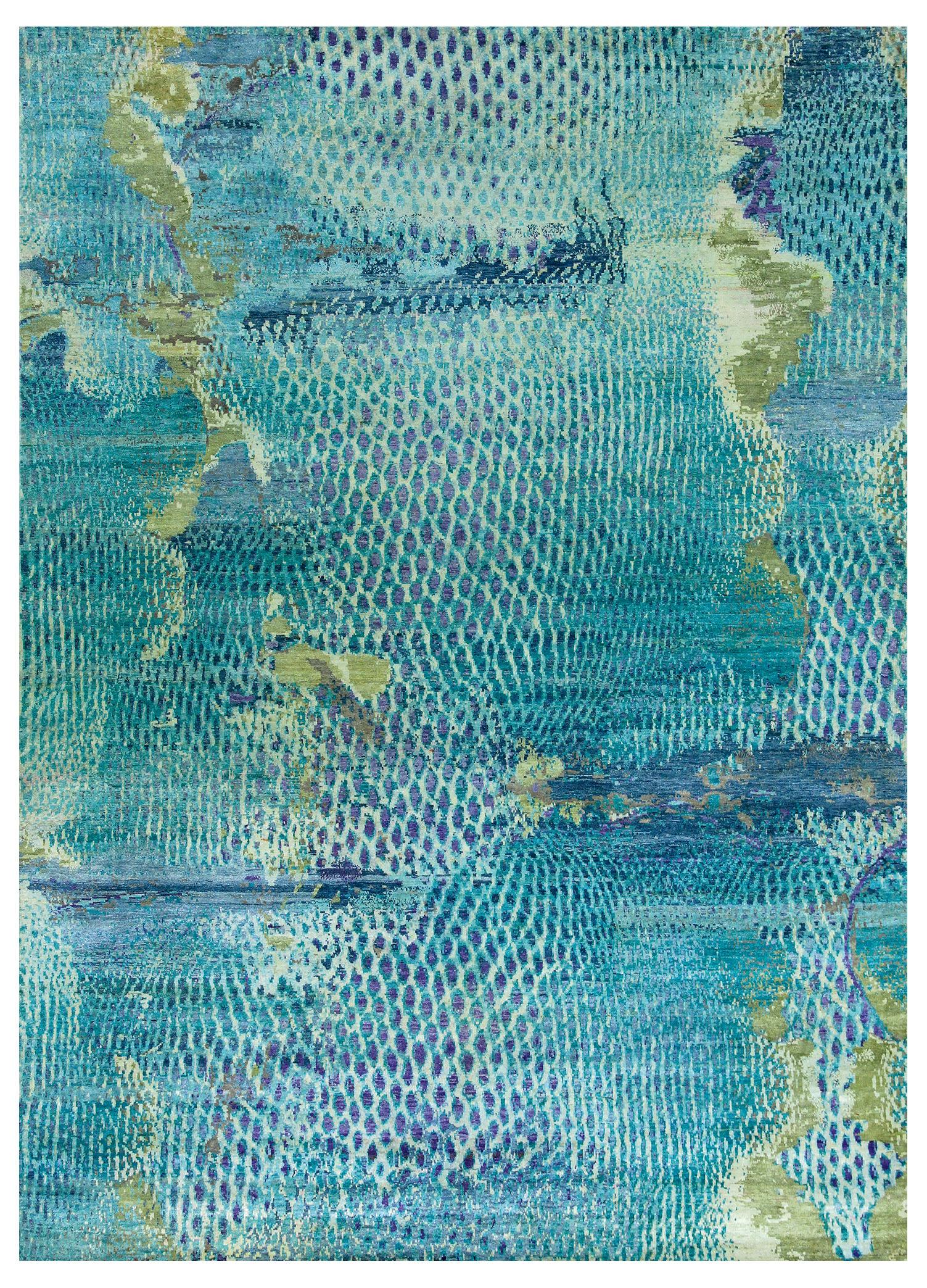 Kundan Pure Silk Iridescence Ostrich Rugs From