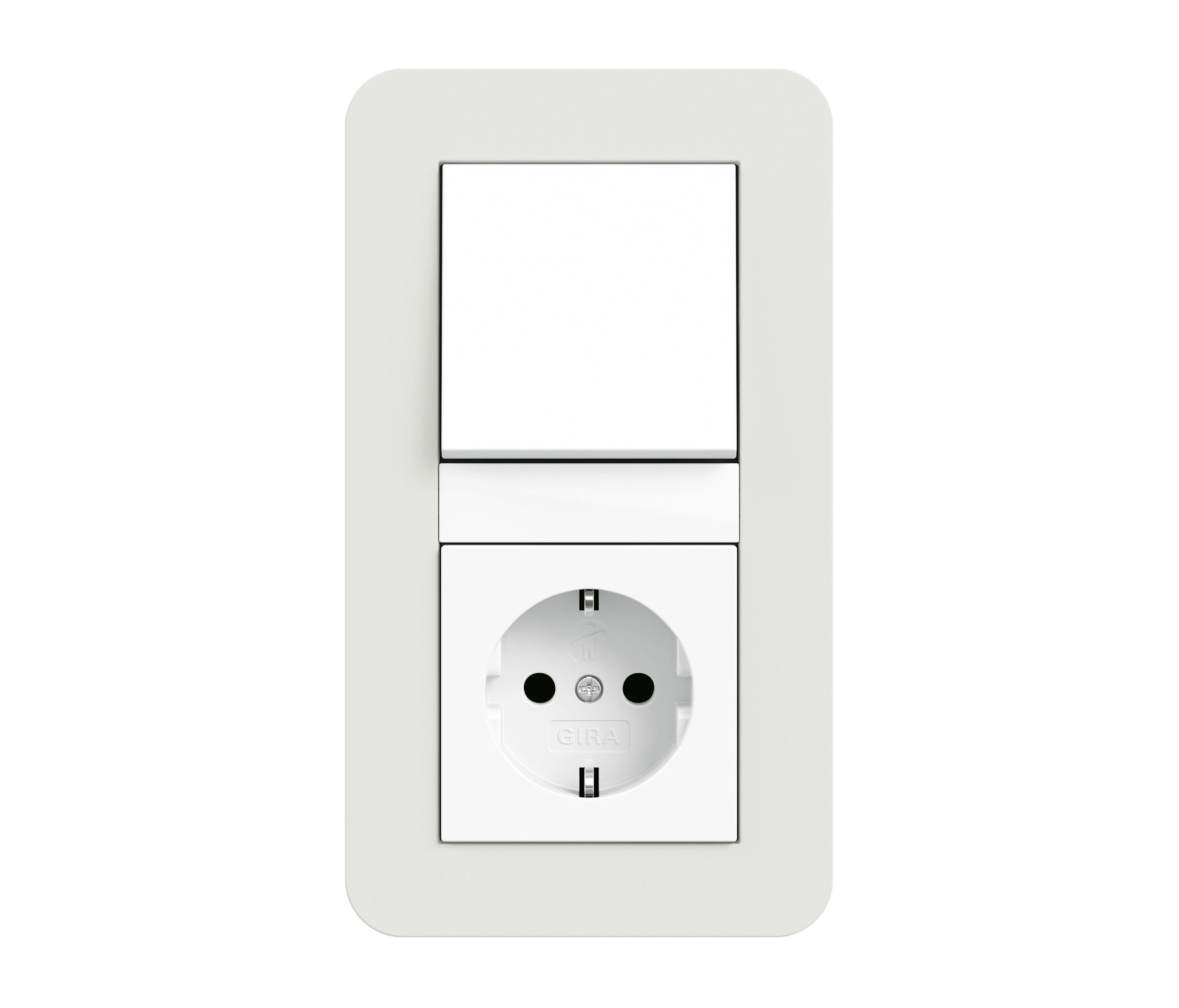 Design features of outlets and switches Gira (Gira) 34