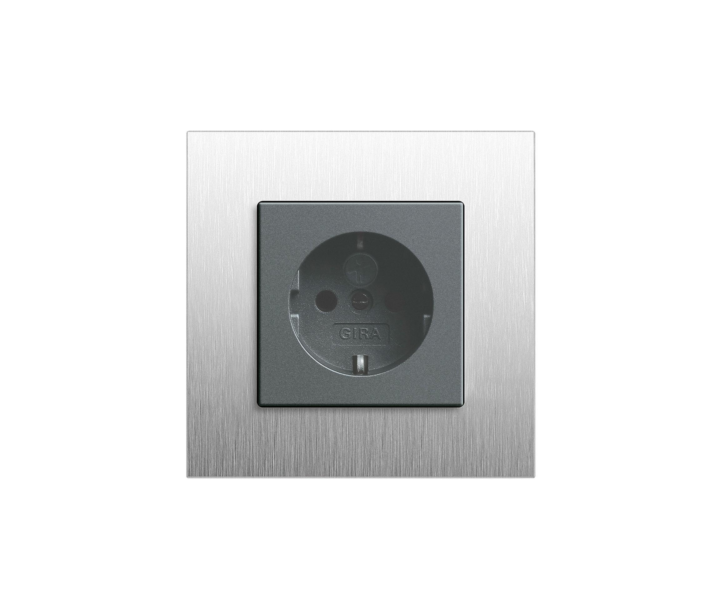 esprit stainless steel switch range schuko sockets. Black Bedroom Furniture Sets. Home Design Ideas
