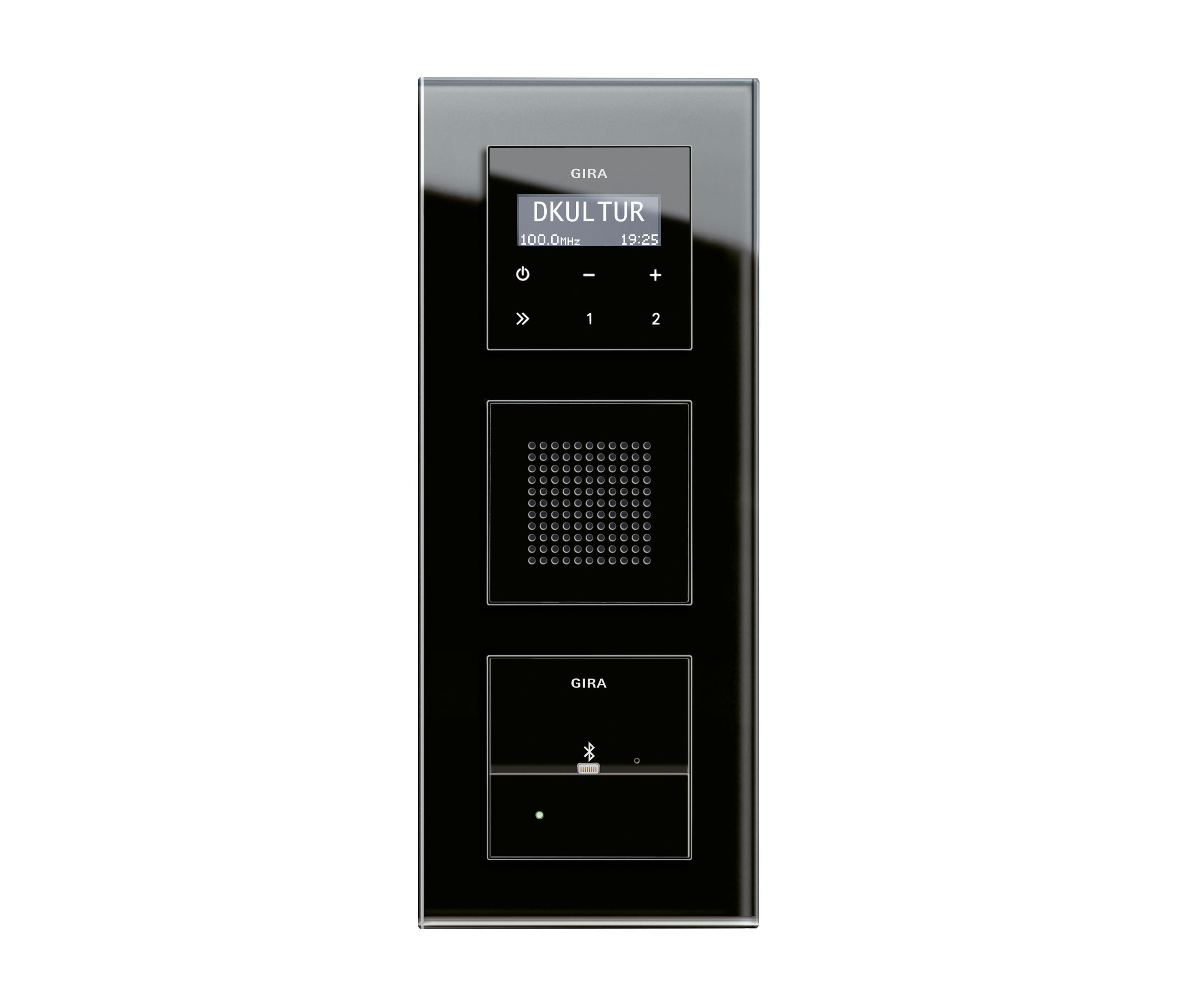 esprit glas dockingstation radiosysteme von gira. Black Bedroom Furniture Sets. Home Design Ideas