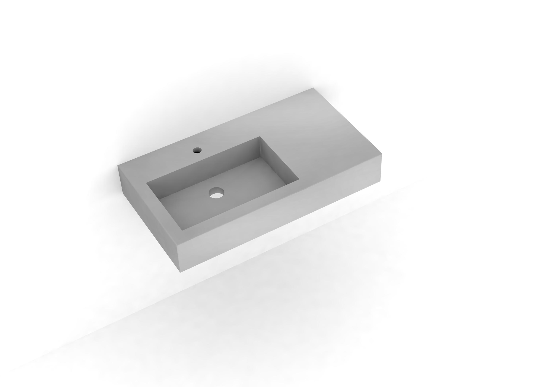 Angolare beton waschbecken waschtische von dade design ag concrete works beton architonic - Wandgehangtes waschbecken beton trendiges design ...