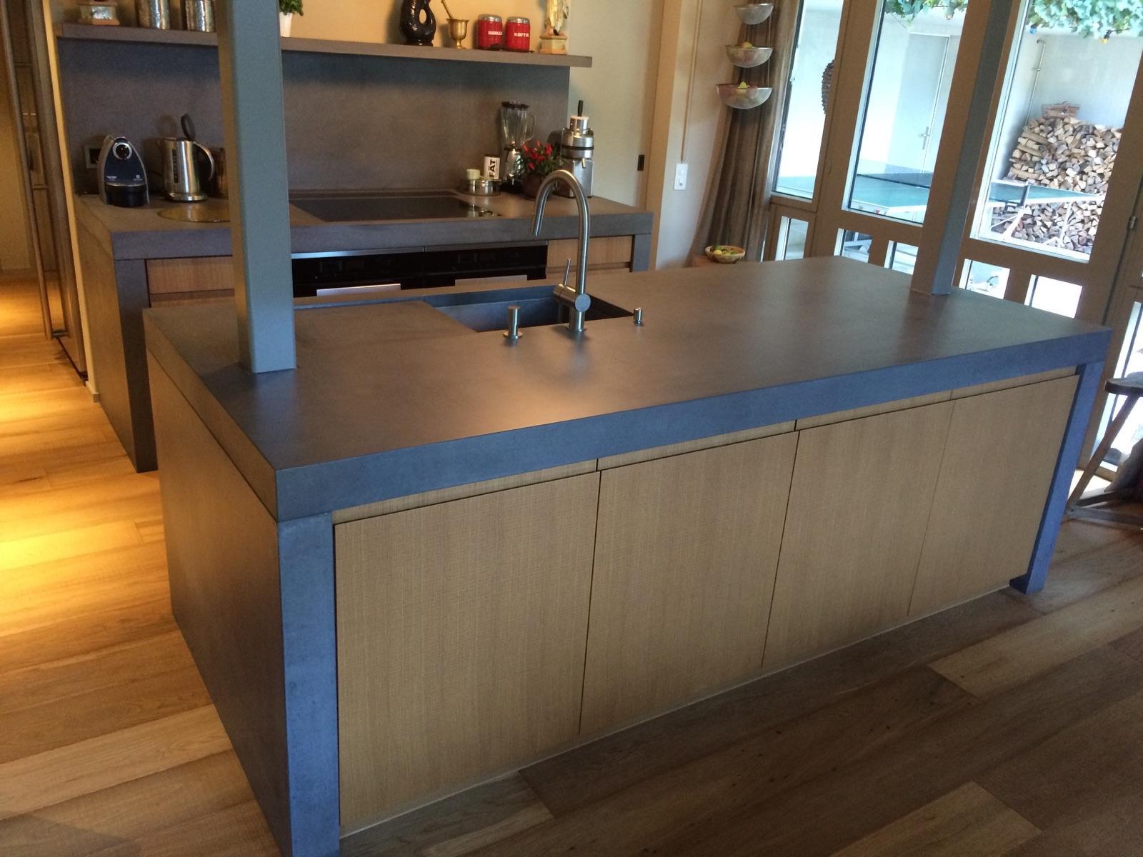 BETON KÜCHE | DESIGN BEISPIEL - Küchenarbeitsflächen von Dade Design ...