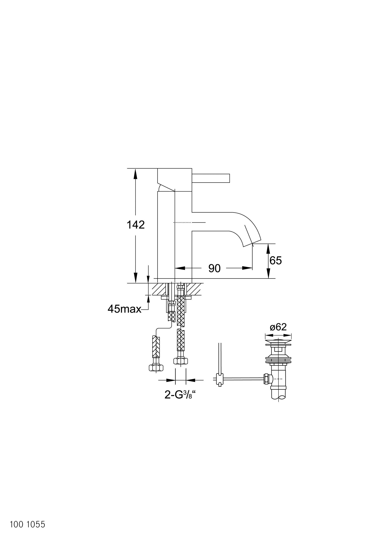 100 1055 waschtisch einhebelmischbatterie waschtischarmaturen von steinberg architonic. Black Bedroom Furniture Sets. Home Design Ideas