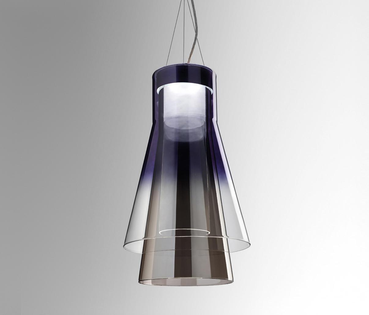 Trigona S Black And Grey By Leucos Usa Suspended Lights
