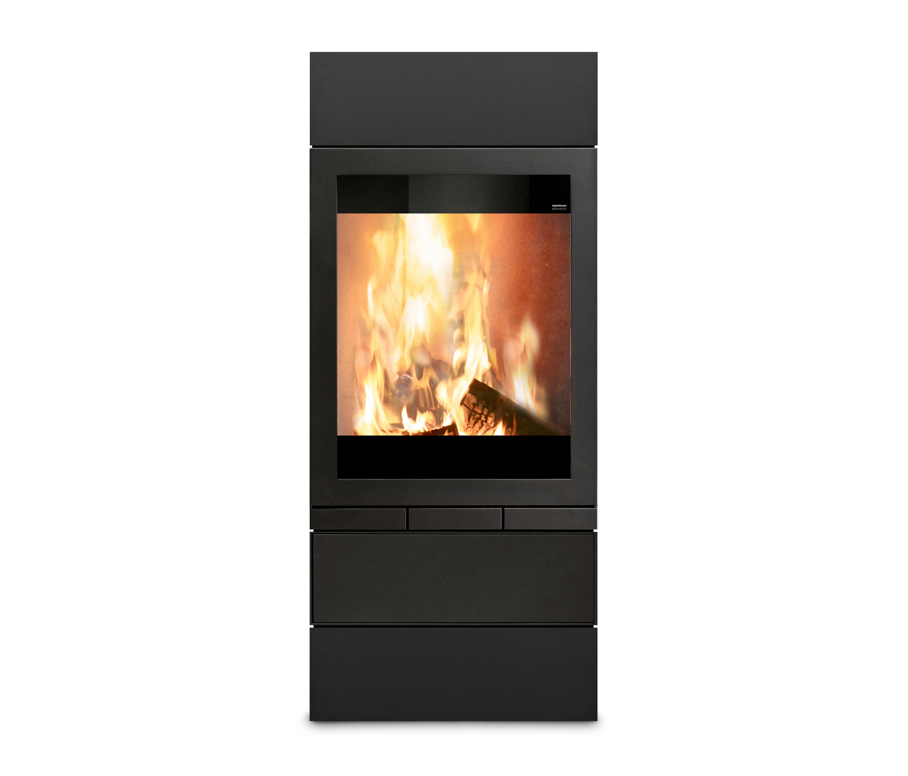 elements 603 front wood burning stoves from skantherm architonic. Black Bedroom Furniture Sets. Home Design Ideas