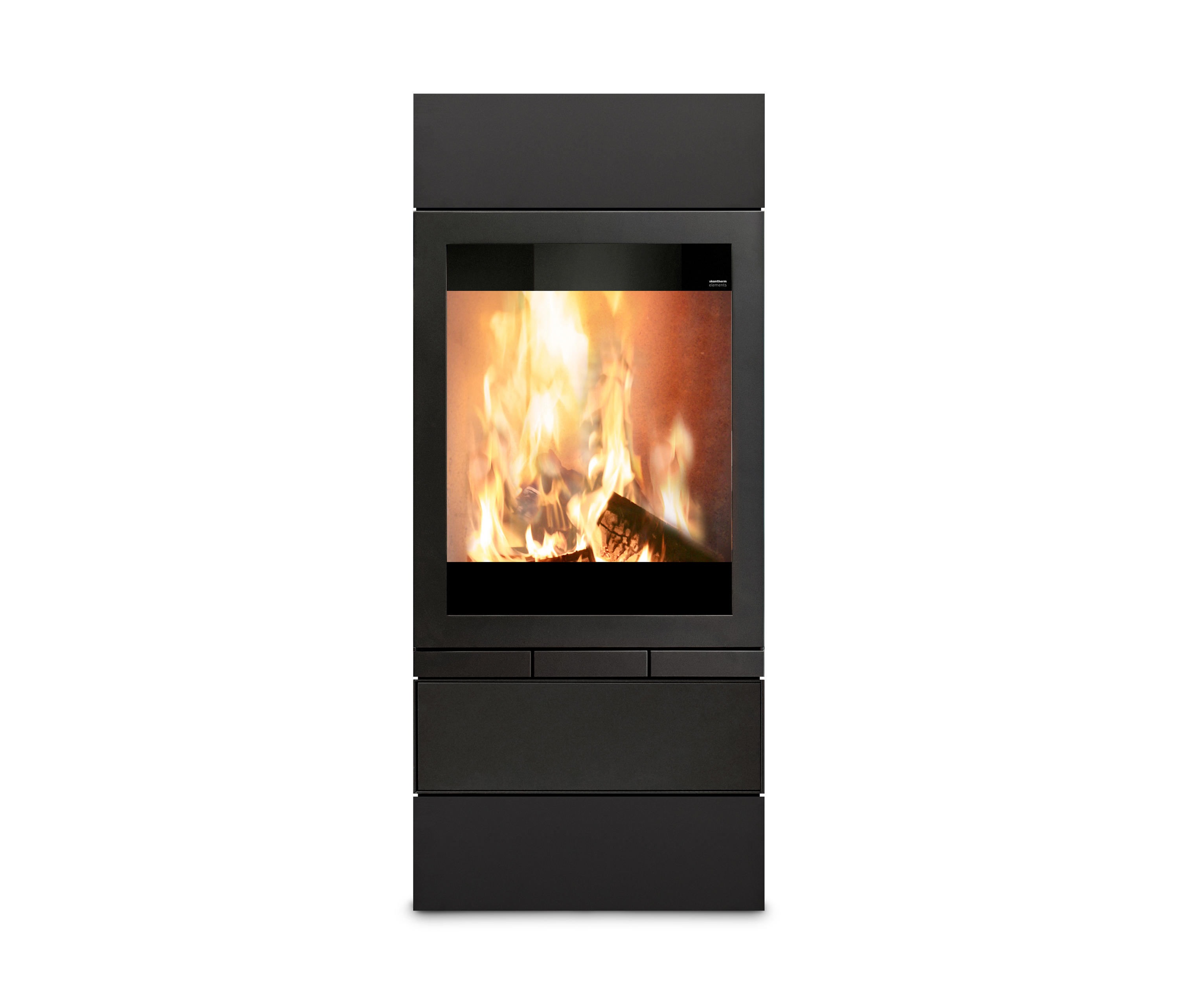 elements 603 front wood burning stoves by skantherm architonic. Black Bedroom Furniture Sets. Home Design Ideas