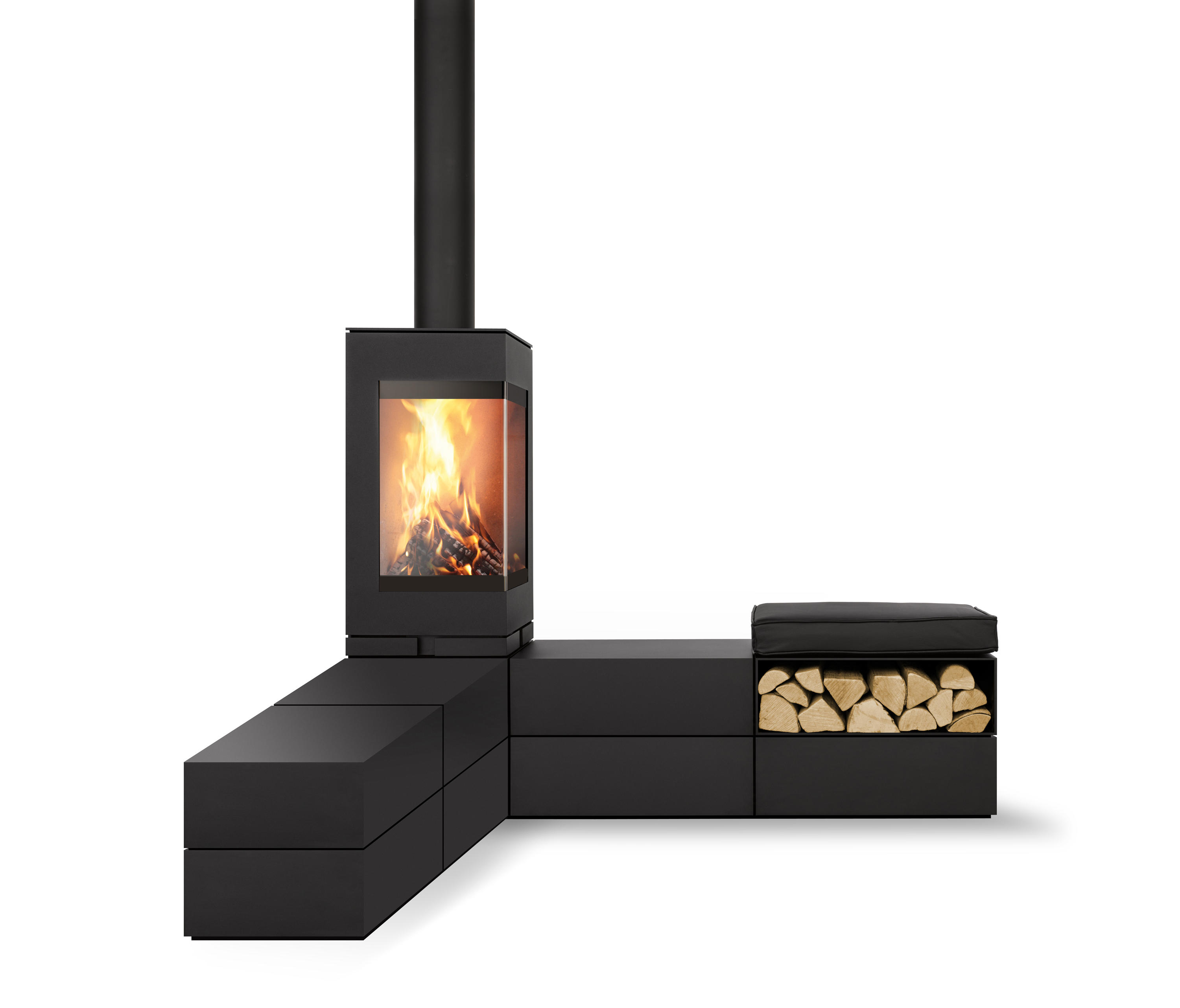 elements wood burning stoves from skantherm architonic. Black Bedroom Furniture Sets. Home Design Ideas