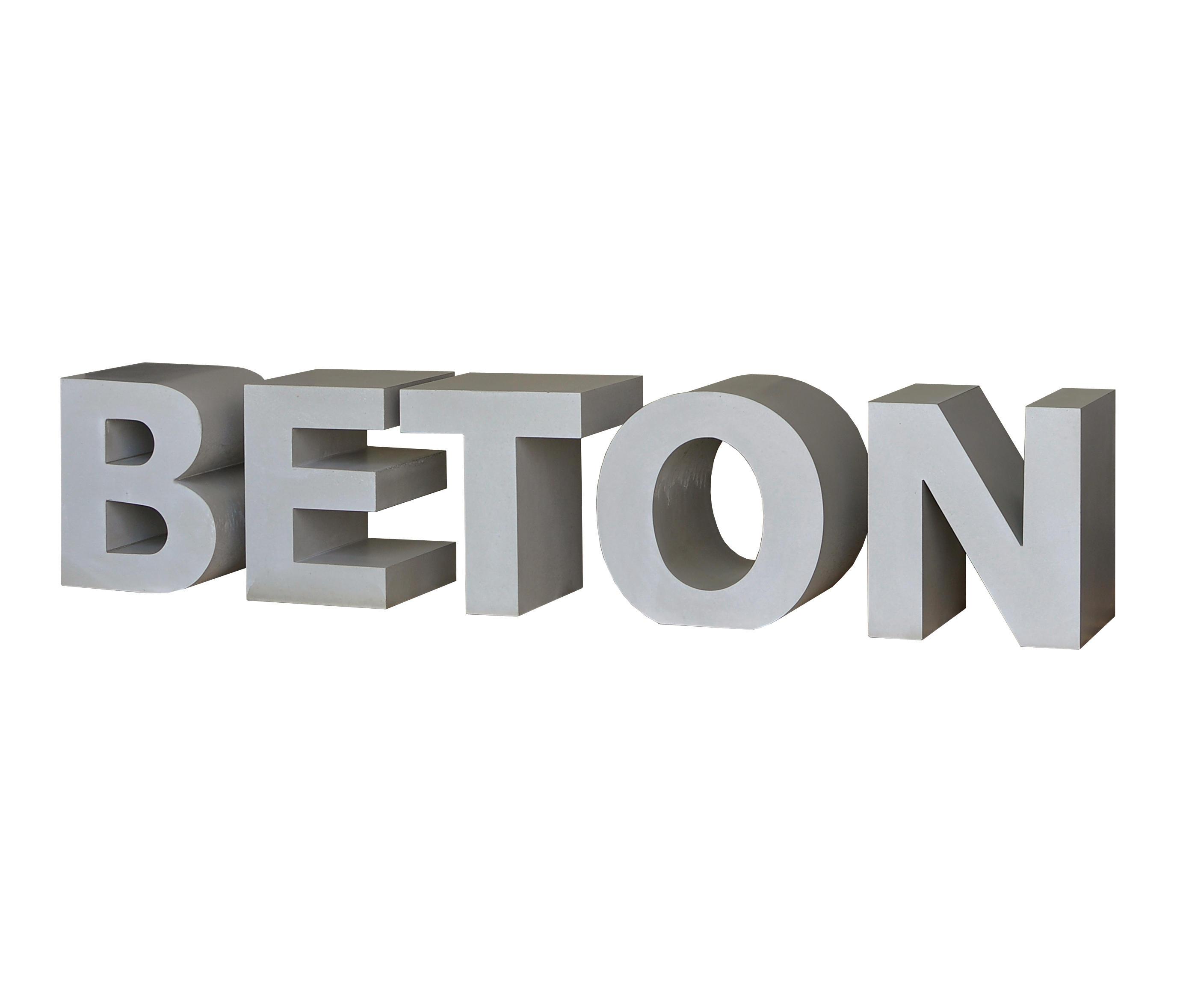 Betonbuchstaben Hausnummern Buchstaben Von Oggi Beton Architonic