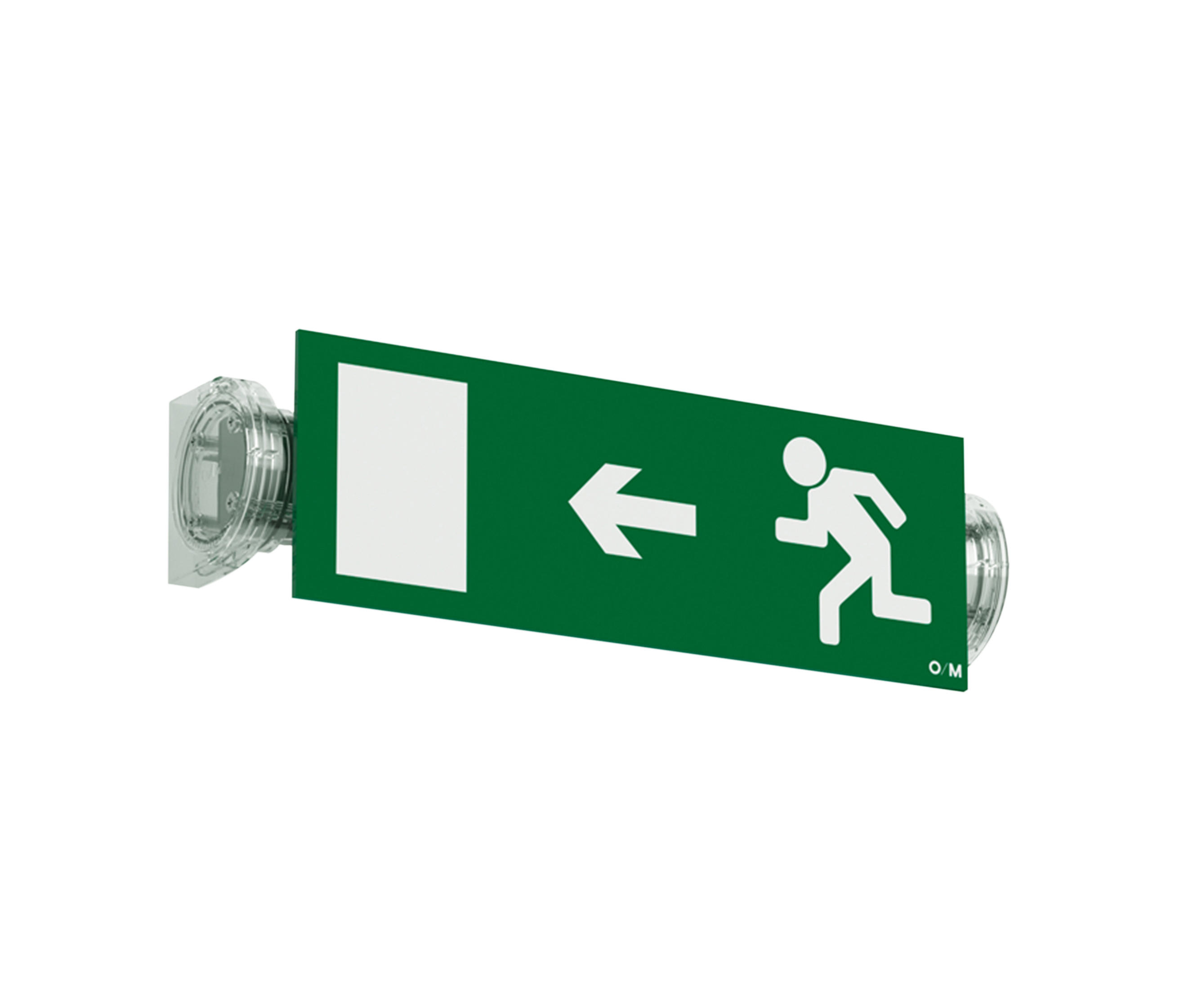 BS - Wall-mounted emergency lights from O/M Architonic