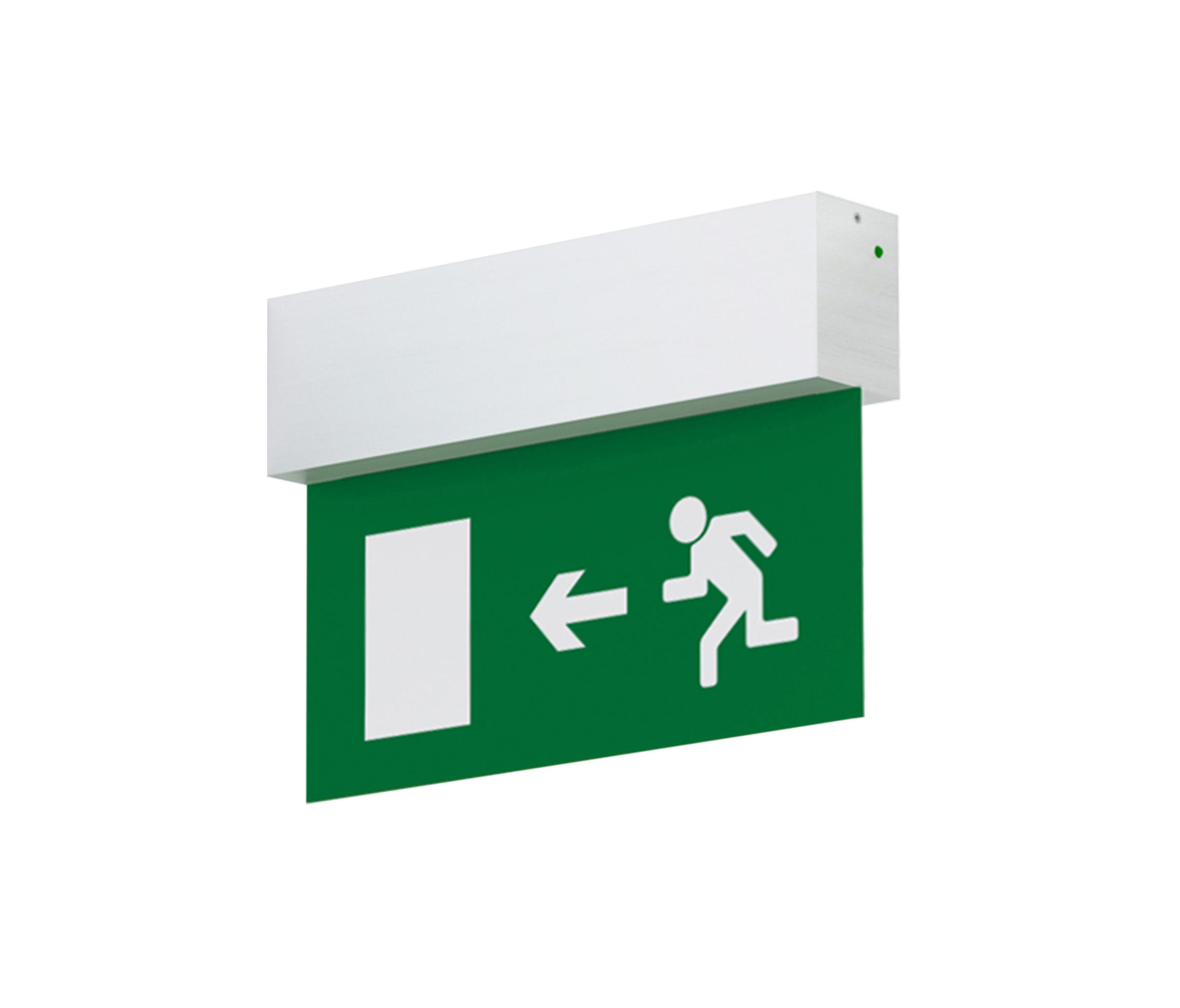 Wall Hanging Emergency Light : LS Wall end mounted - Wall-mounted emergency lights by O/M Architonic
