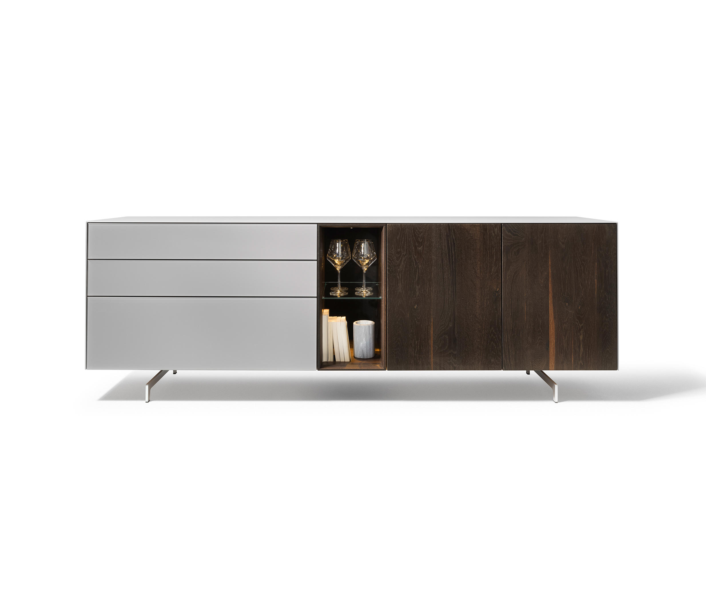 cubus pure sideboard sideboards by team 7 architonic. Black Bedroom Furniture Sets. Home Design Ideas