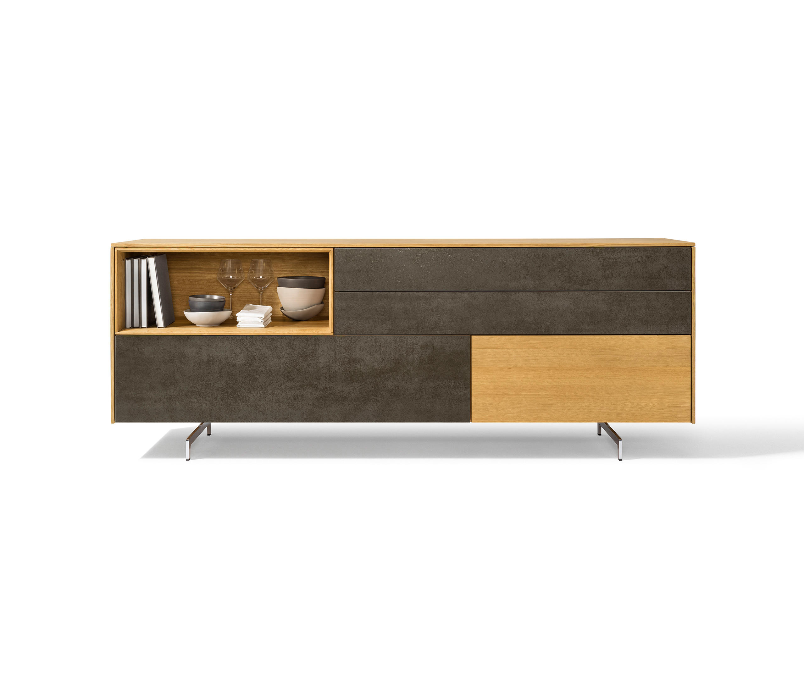 filigno sideboard sideboards from team 7 architonic. Black Bedroom Furniture Sets. Home Design Ideas