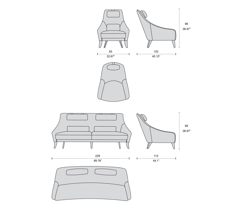 1734 Sofa Sofas From Tecni Nova Architonic