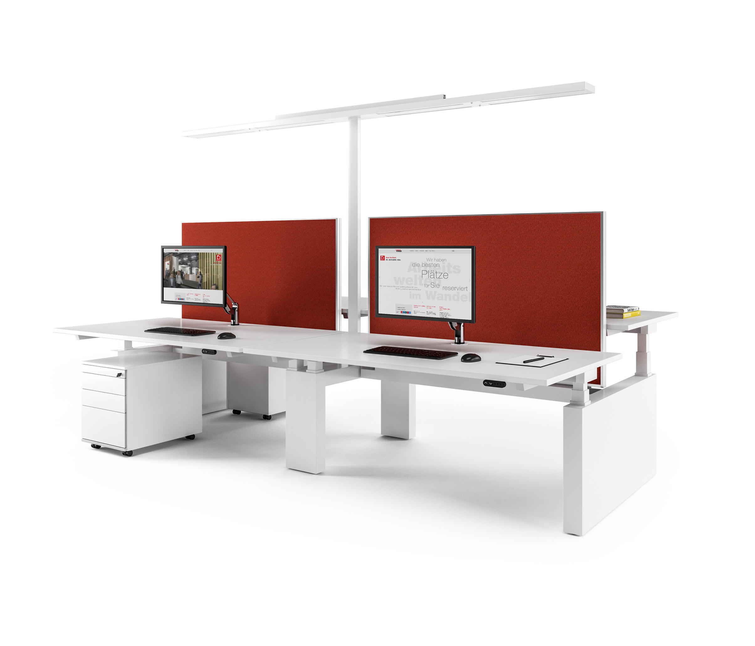 canvaro compact desking programme desking systems from. Black Bedroom Furniture Sets. Home Design Ideas