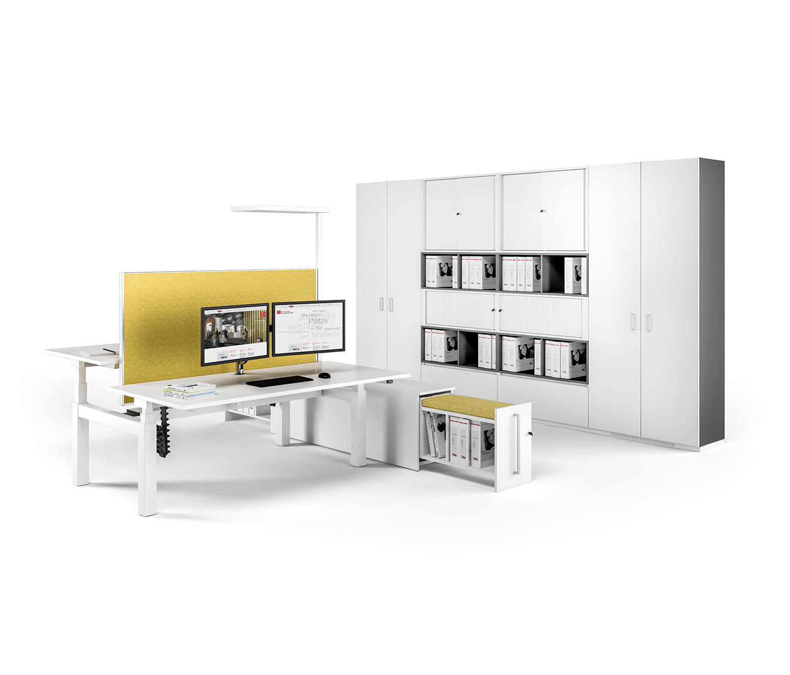 Canvaro compact desking programme desking systems from for Buero moebel