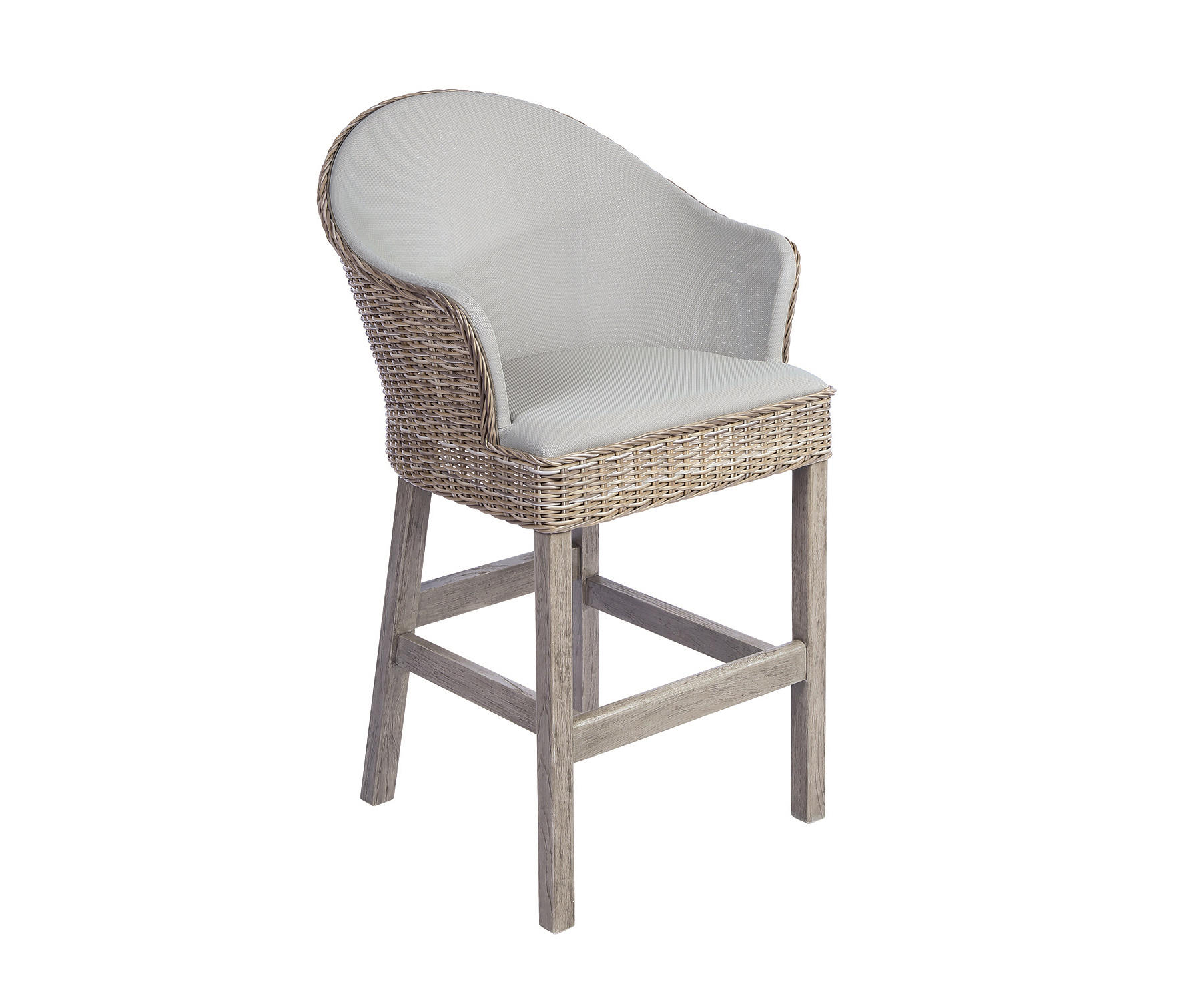 Milano bar chair garten barhocker von kingsley bate for Barhocker usa