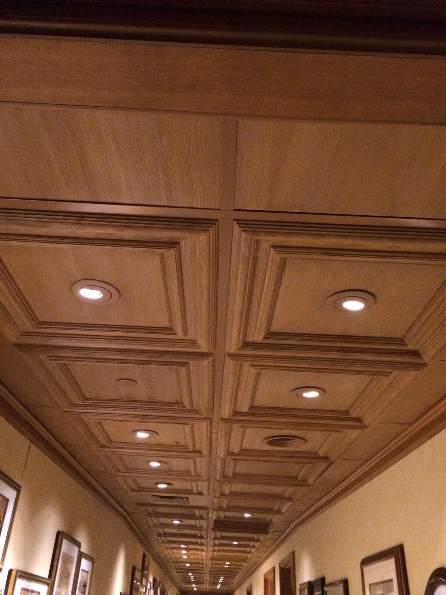 Classic Woodgrain Panel Ceiling Tile Mineral Composite Panels Above View Inc
