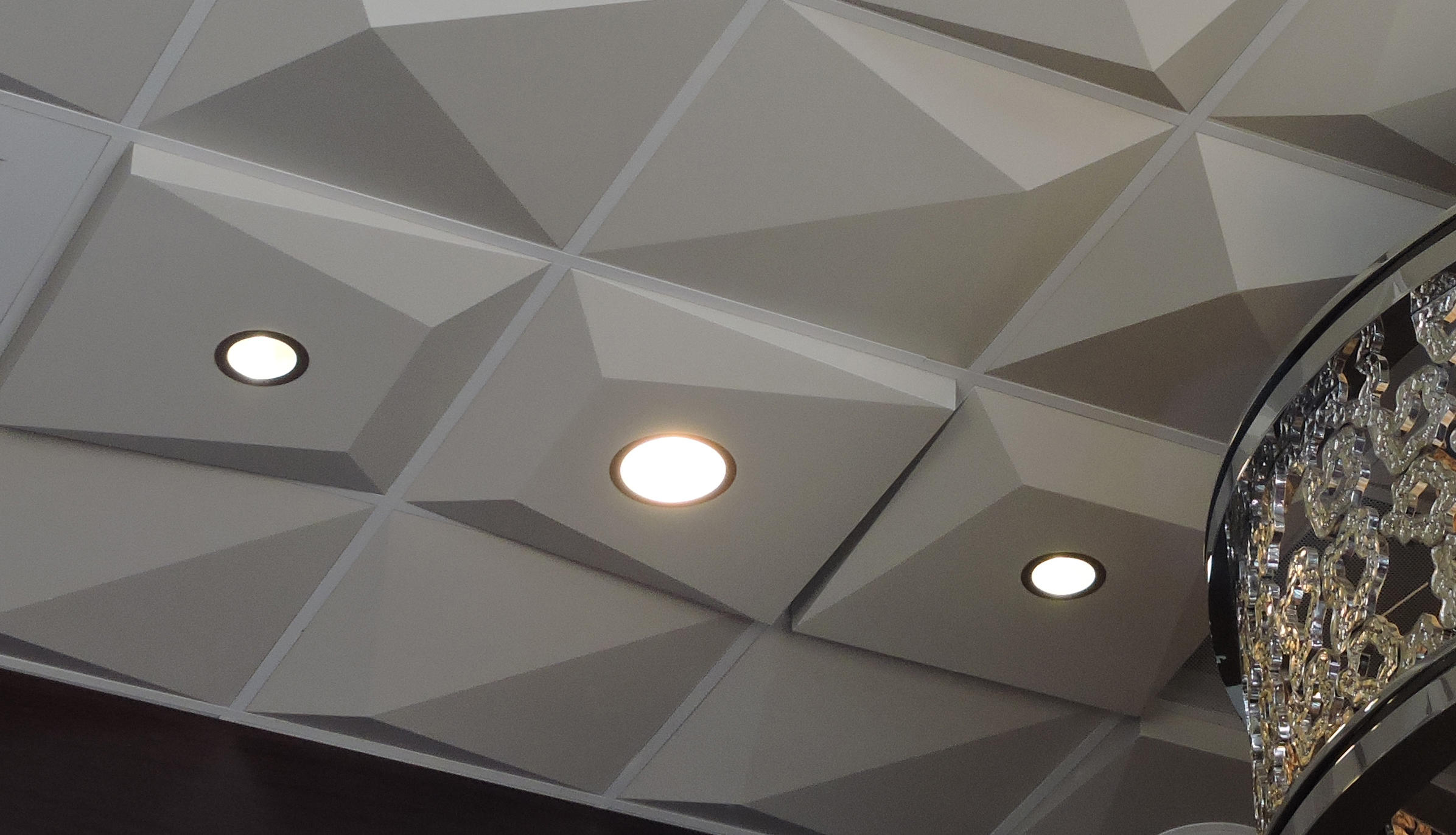 Pyramid utility ceiling tile by above view inc mineral composite panels