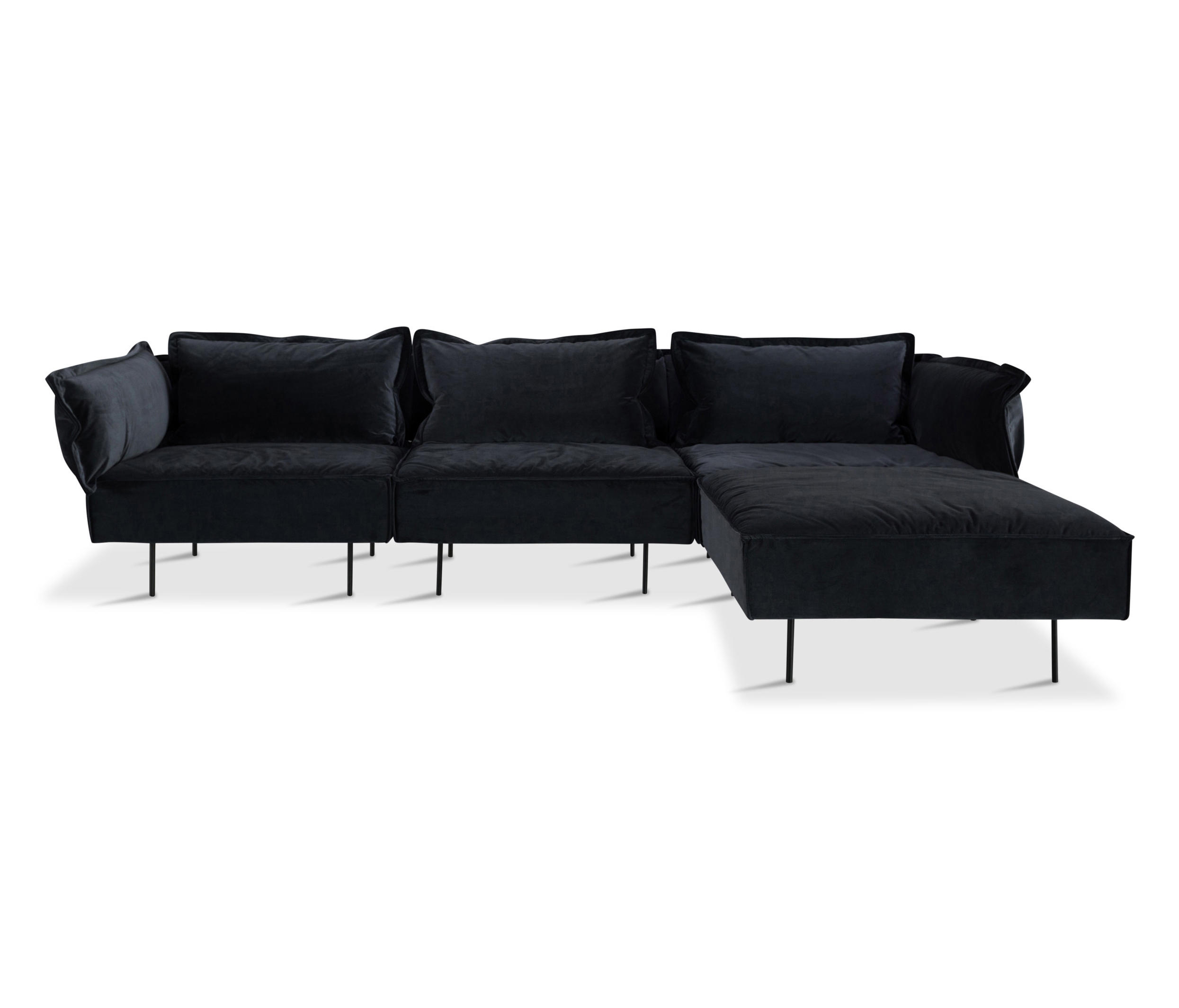 3 seat sofa with chaise dark grey sofas from handv rk for 3 seat chaise sofa