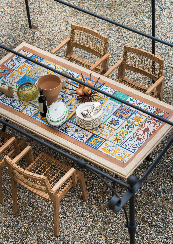 garten-esstische mit tischplatte aus travertin - hochwertige, Esszimmer dekoo