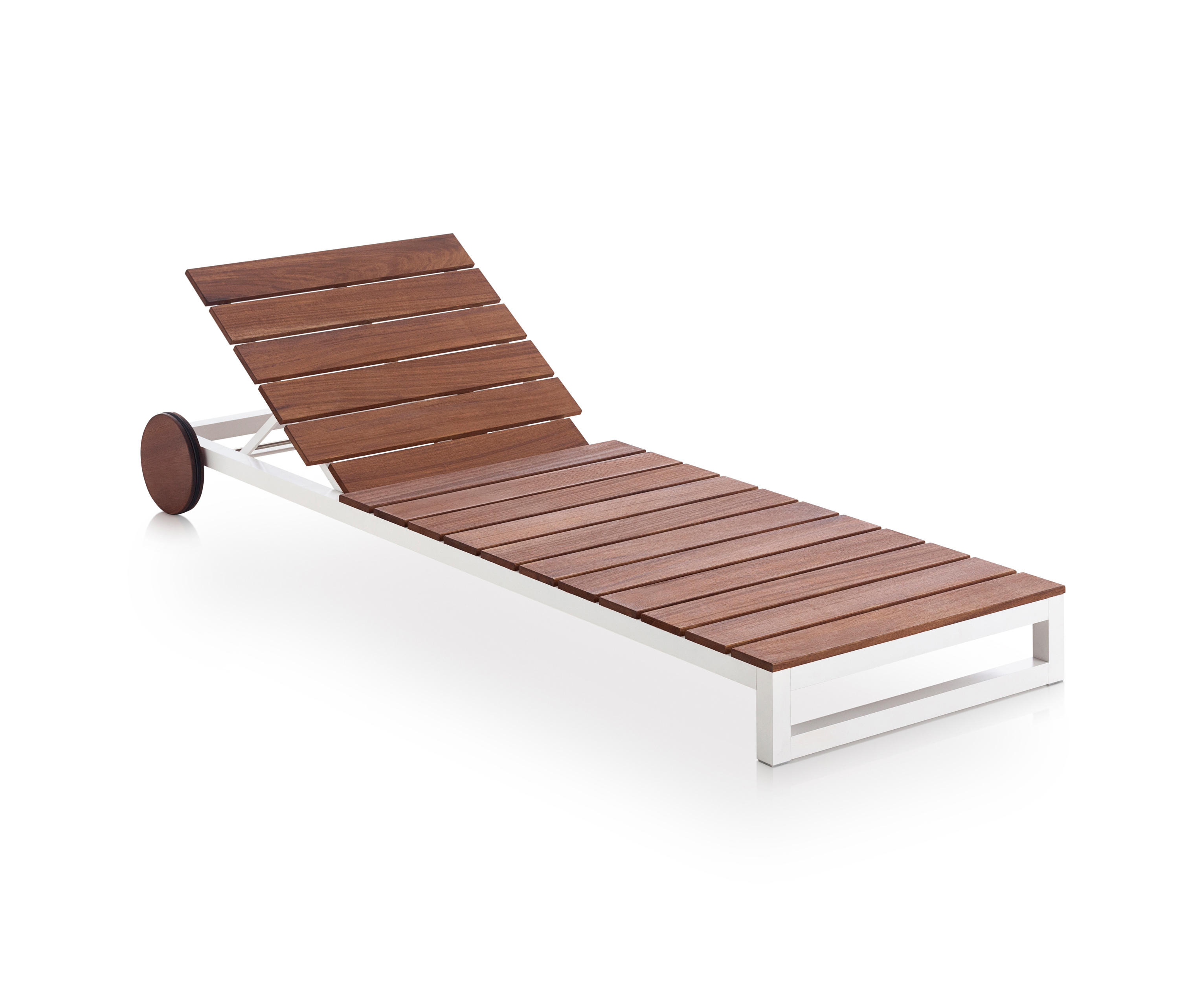 SALER SOFT TEAK CHAISELONGUE Sun loungers from GANDIABLASCO