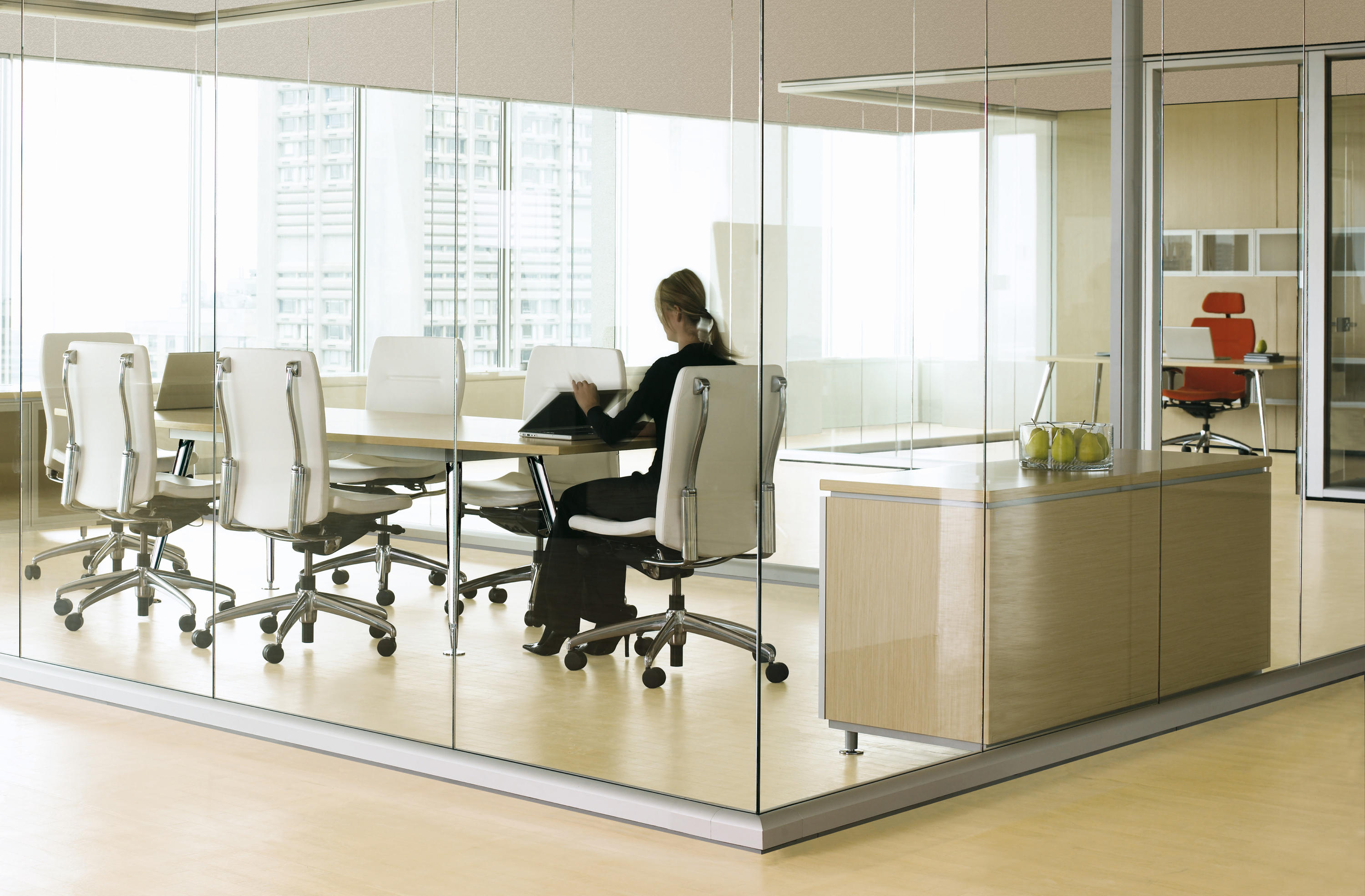 optos wall partition systems from teknion architonic. Black Bedroom Furniture Sets. Home Design Ideas