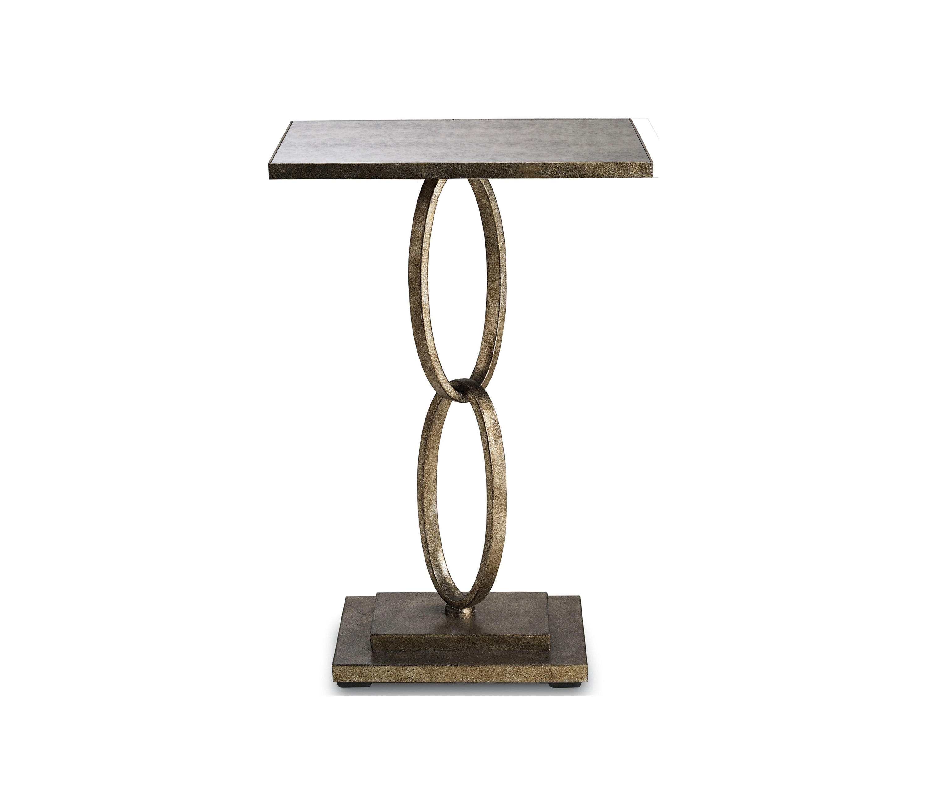 Bangle Accent Table Silver Leaf By Currey Company Side Tables