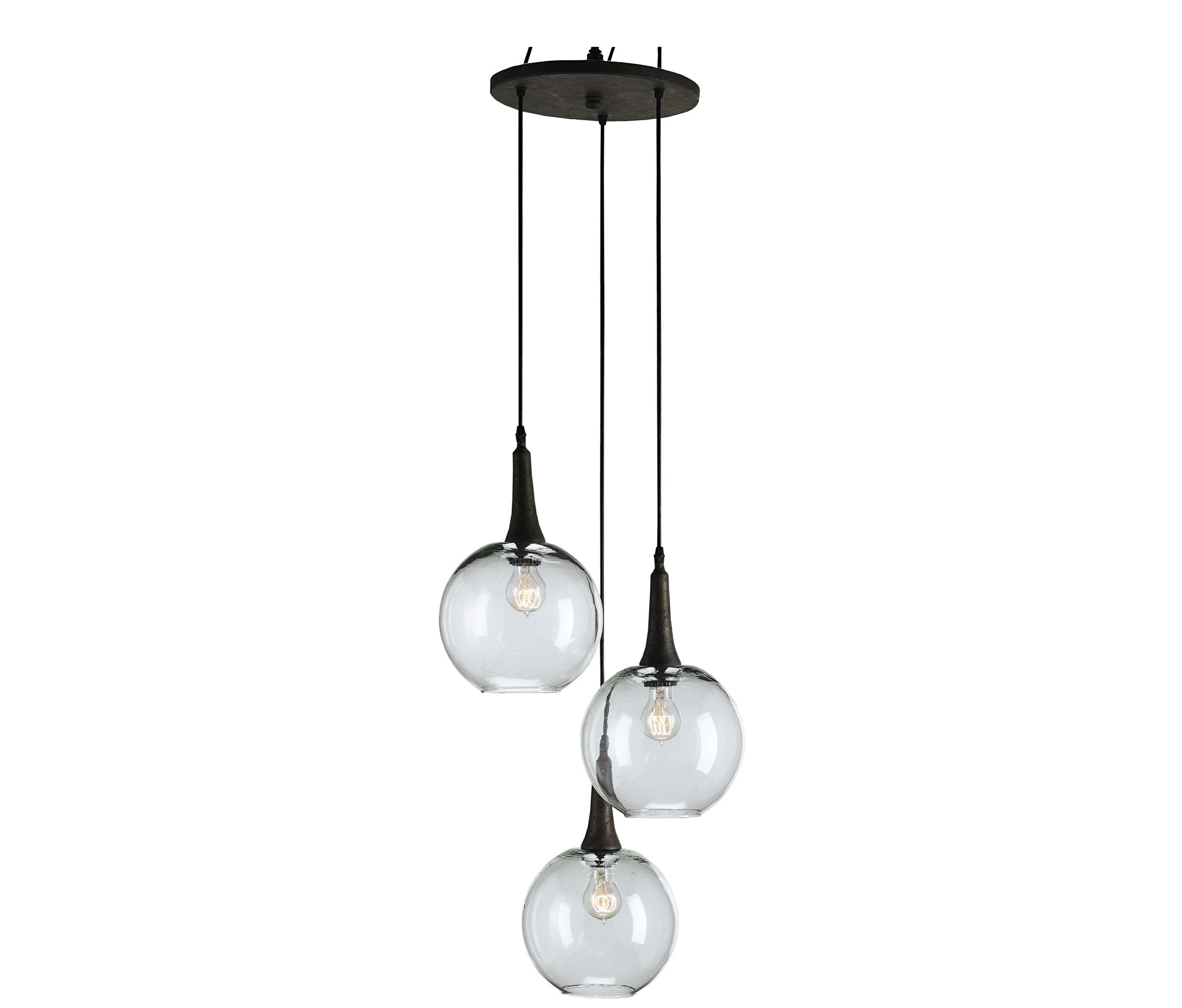 Beckett trio pendant suspended lights from currey company beckett trio pendant by currey company suspended lights aloadofball Choice Image