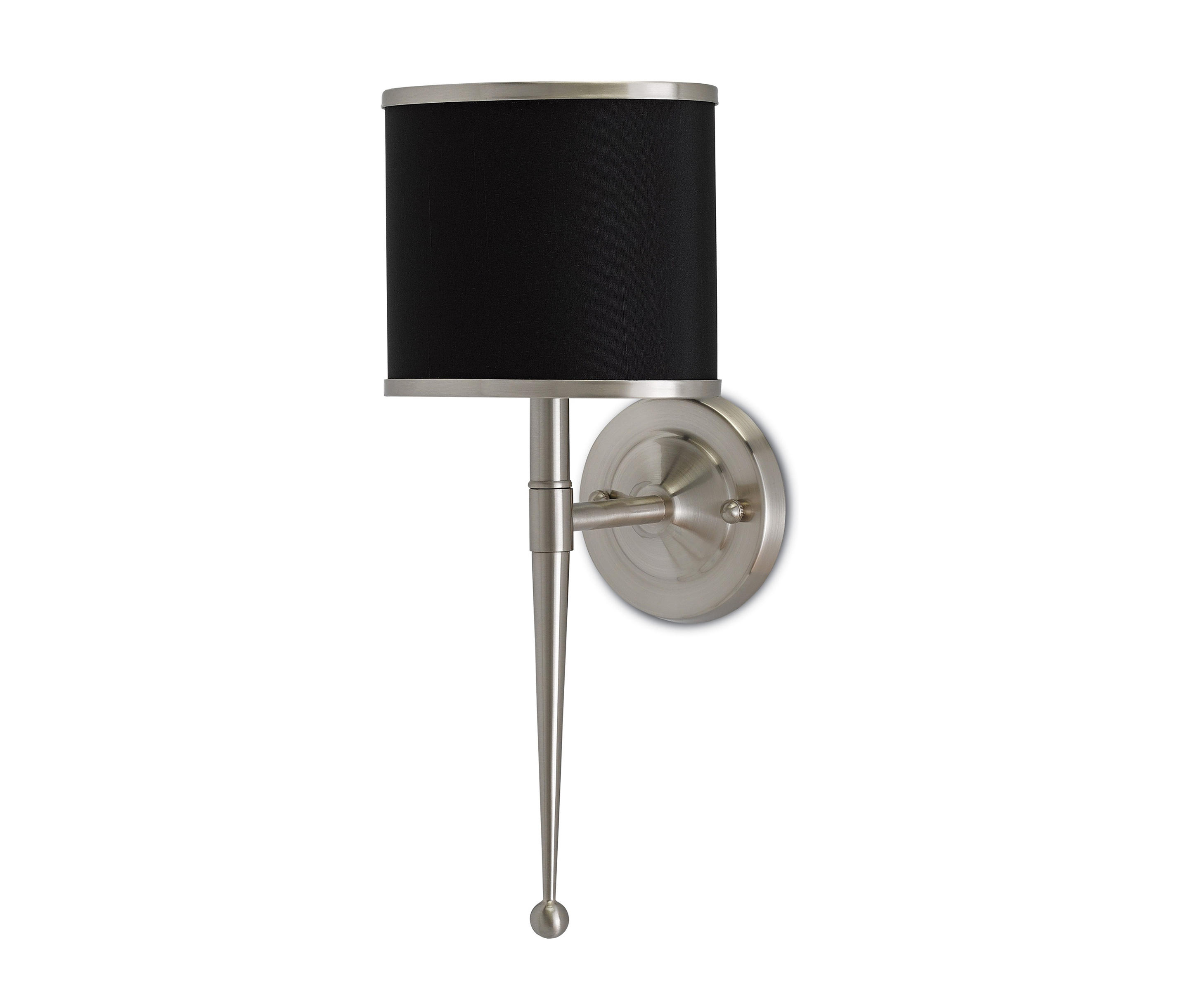 ... Primo Wall Sconce W/ Black Shade By Currey U0026 Company | Wall Lights
