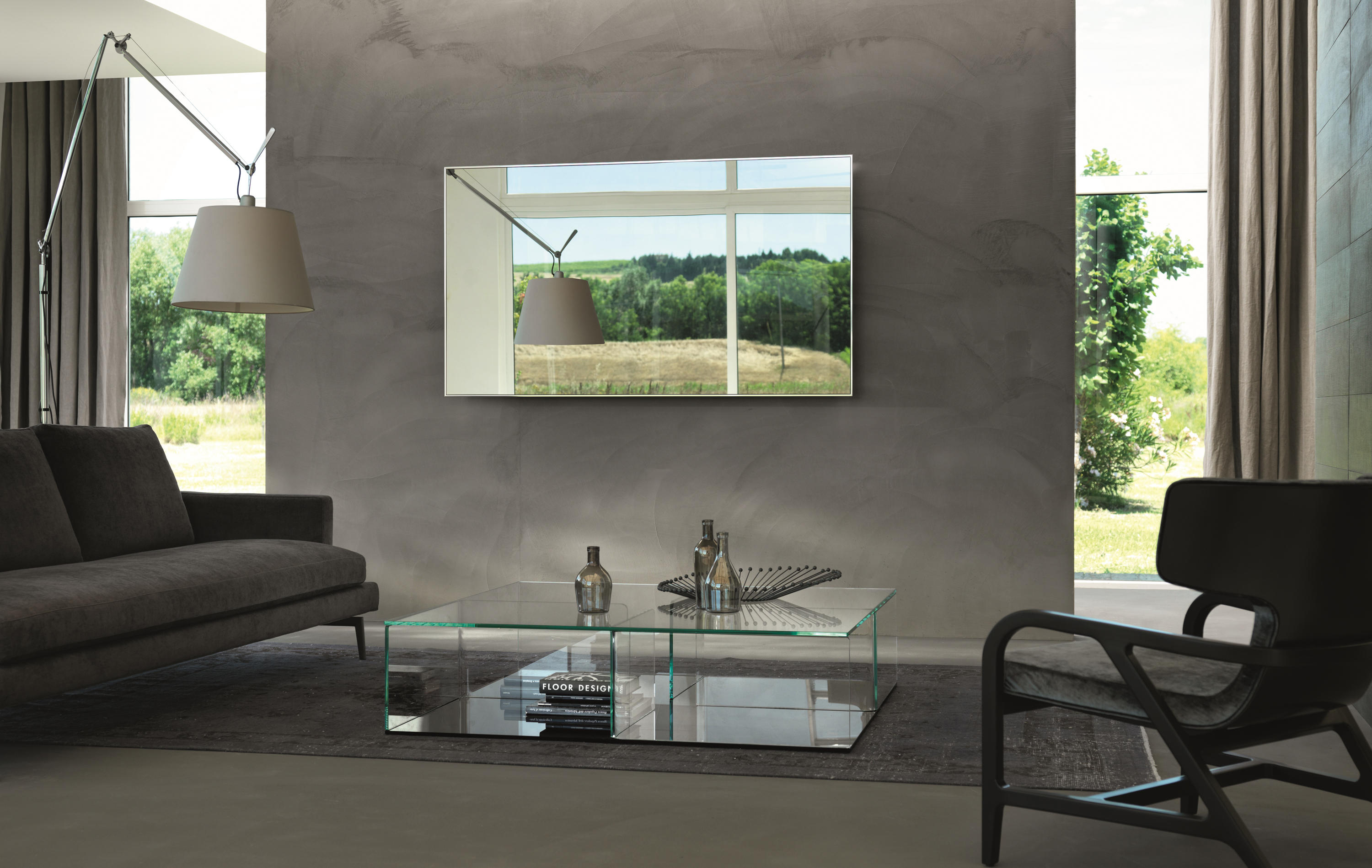 mirage tv spiegel von fiam italia architonic. Black Bedroom Furniture Sets. Home Design Ideas