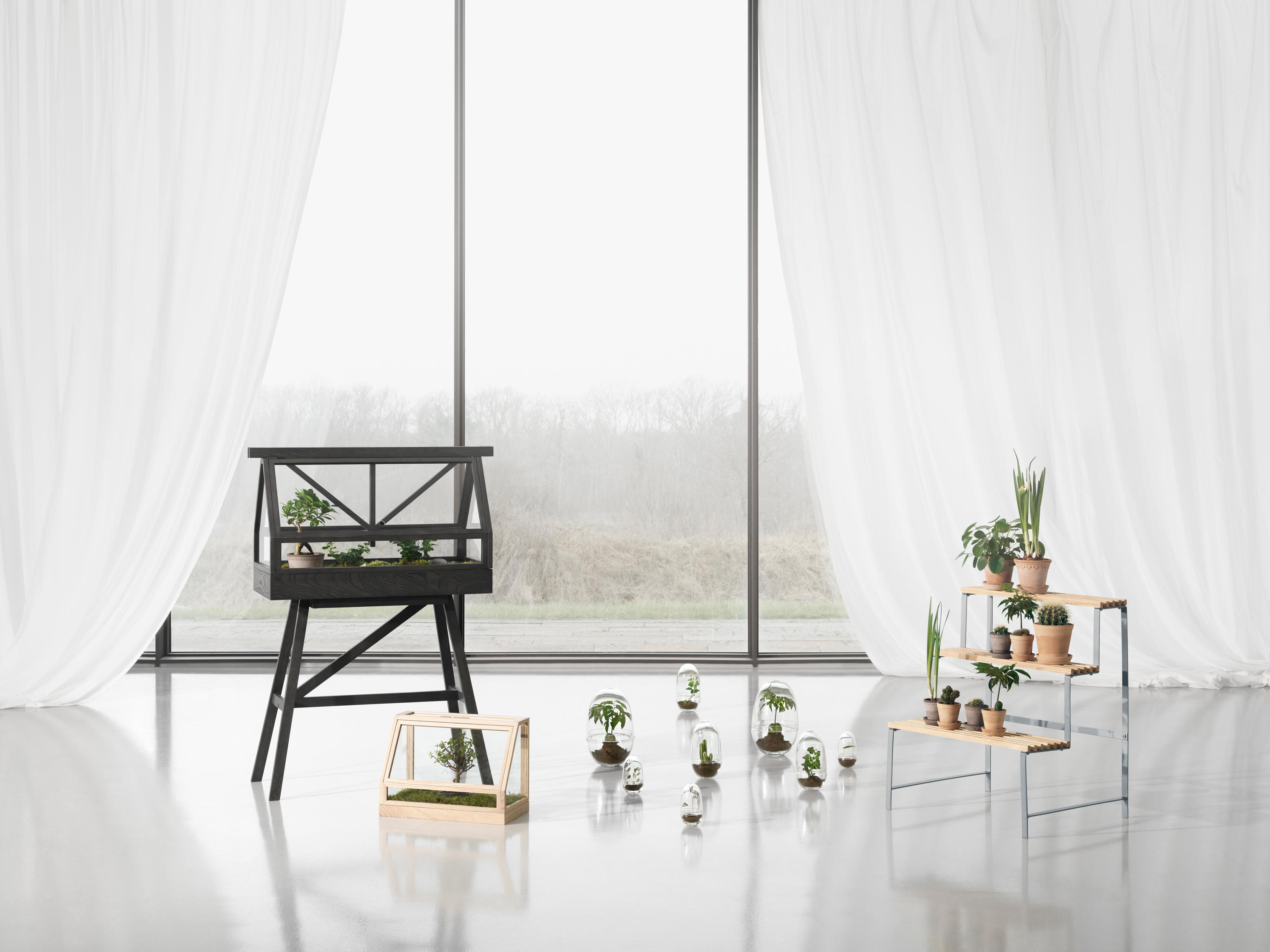 greenhouse dark grey plant holders plant stands by design house stockholm architonic. Black Bedroom Furniture Sets. Home Design Ideas