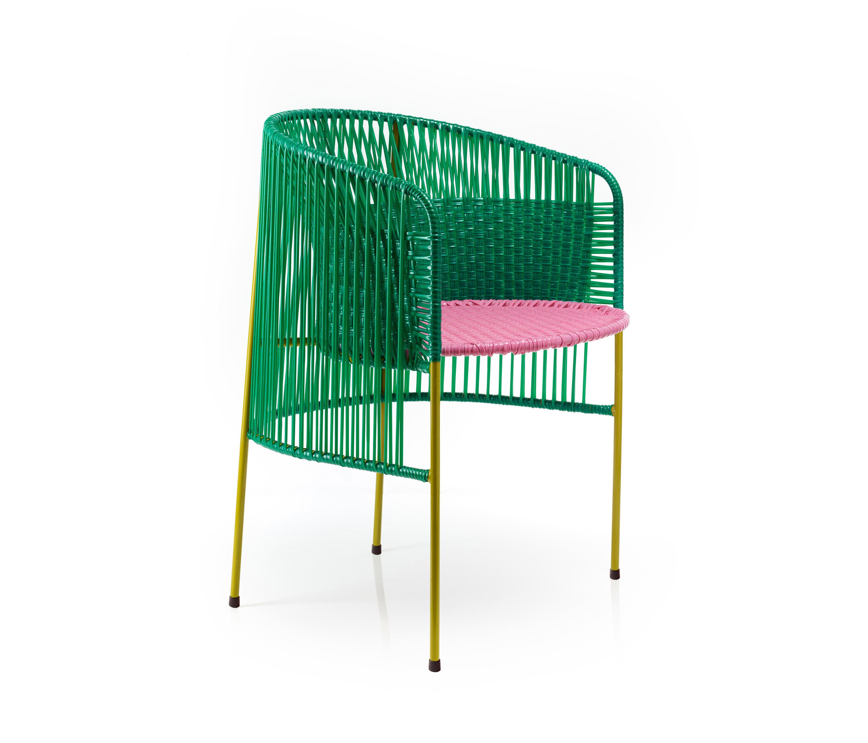 CARIBE | DINING STUHL, GRÜN/ROSA/CURRY - Stühle von Ames | Architonic