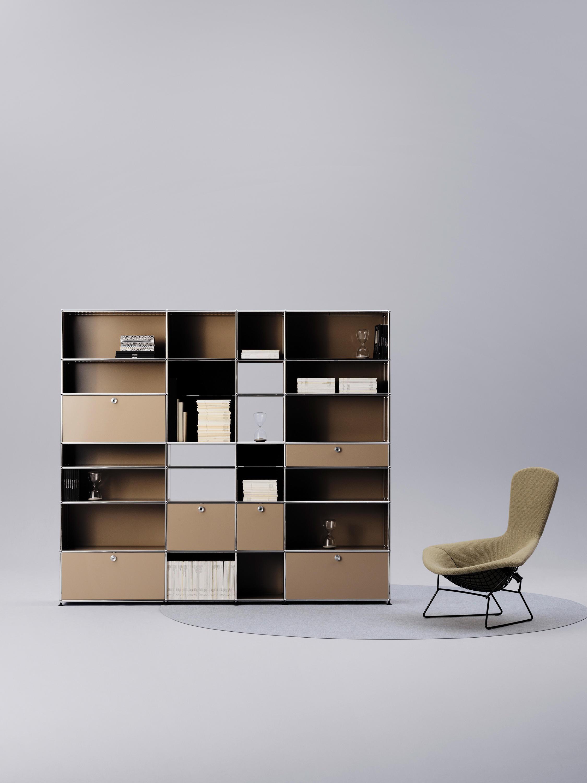 usm haller e shelving from usm architonic. Black Bedroom Furniture Sets. Home Design Ideas