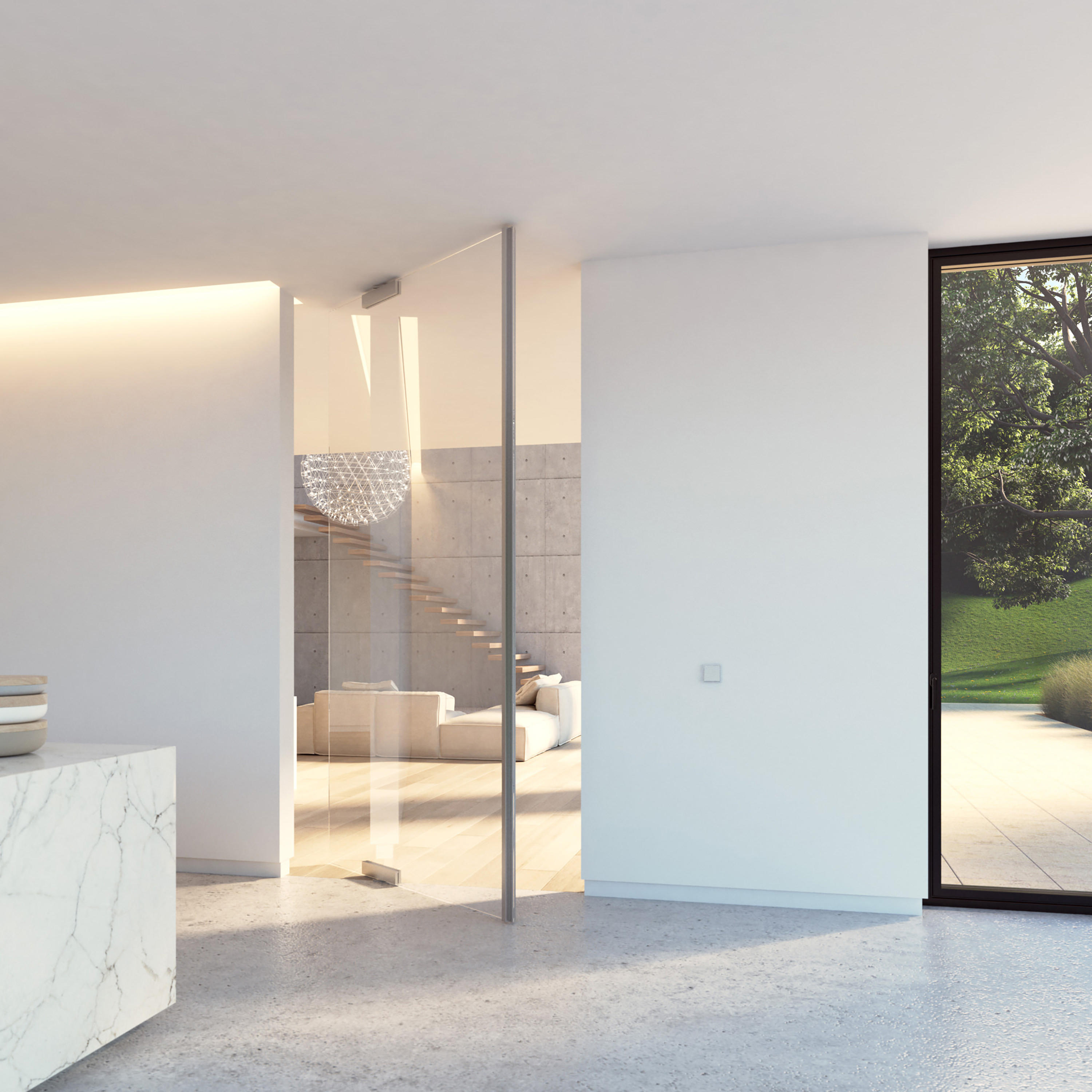 Portapivot Glass Xl Silver Anodized Internal Doors