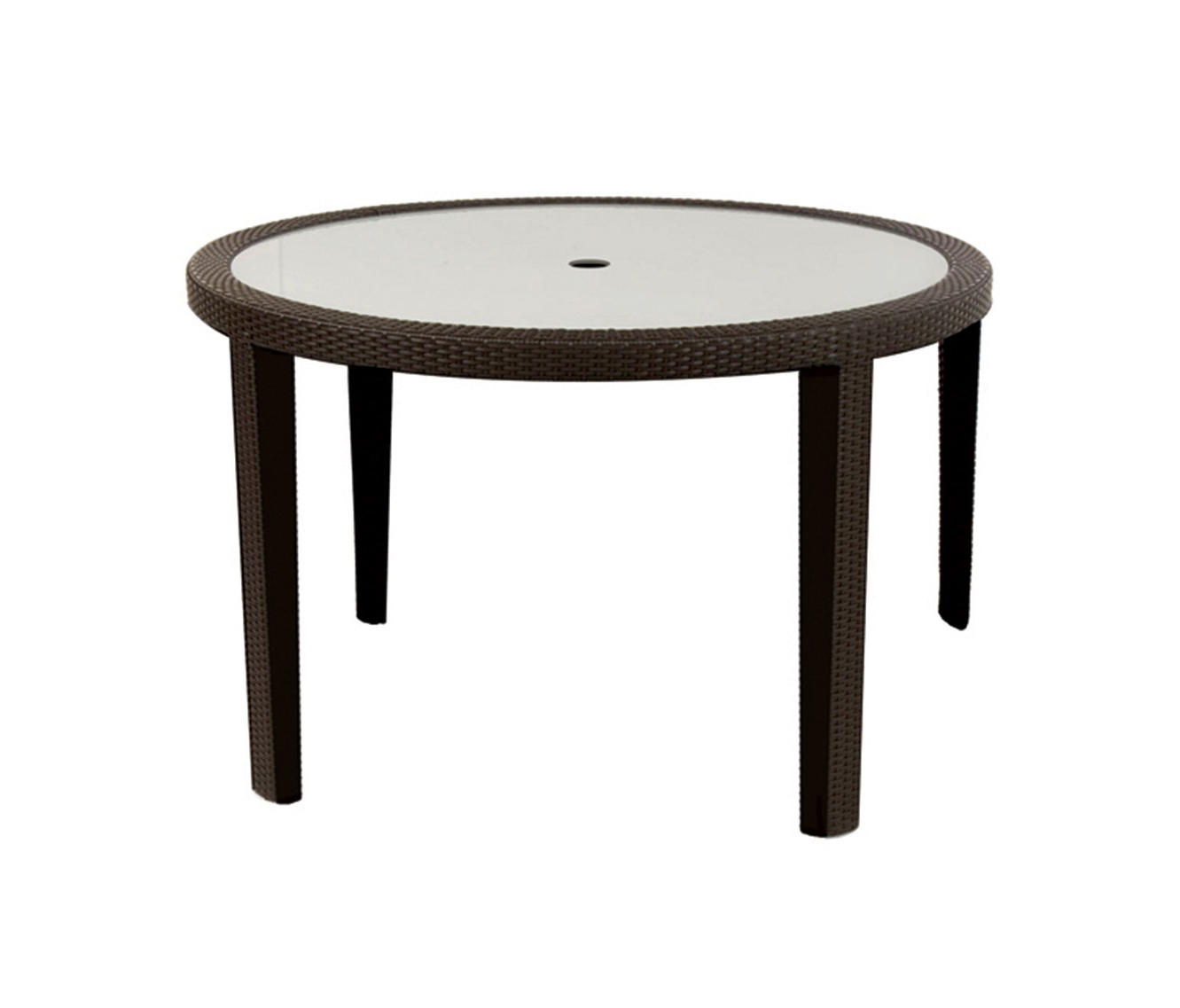 Seneca dining table with tempered glass top dining for Tempered glass dining table