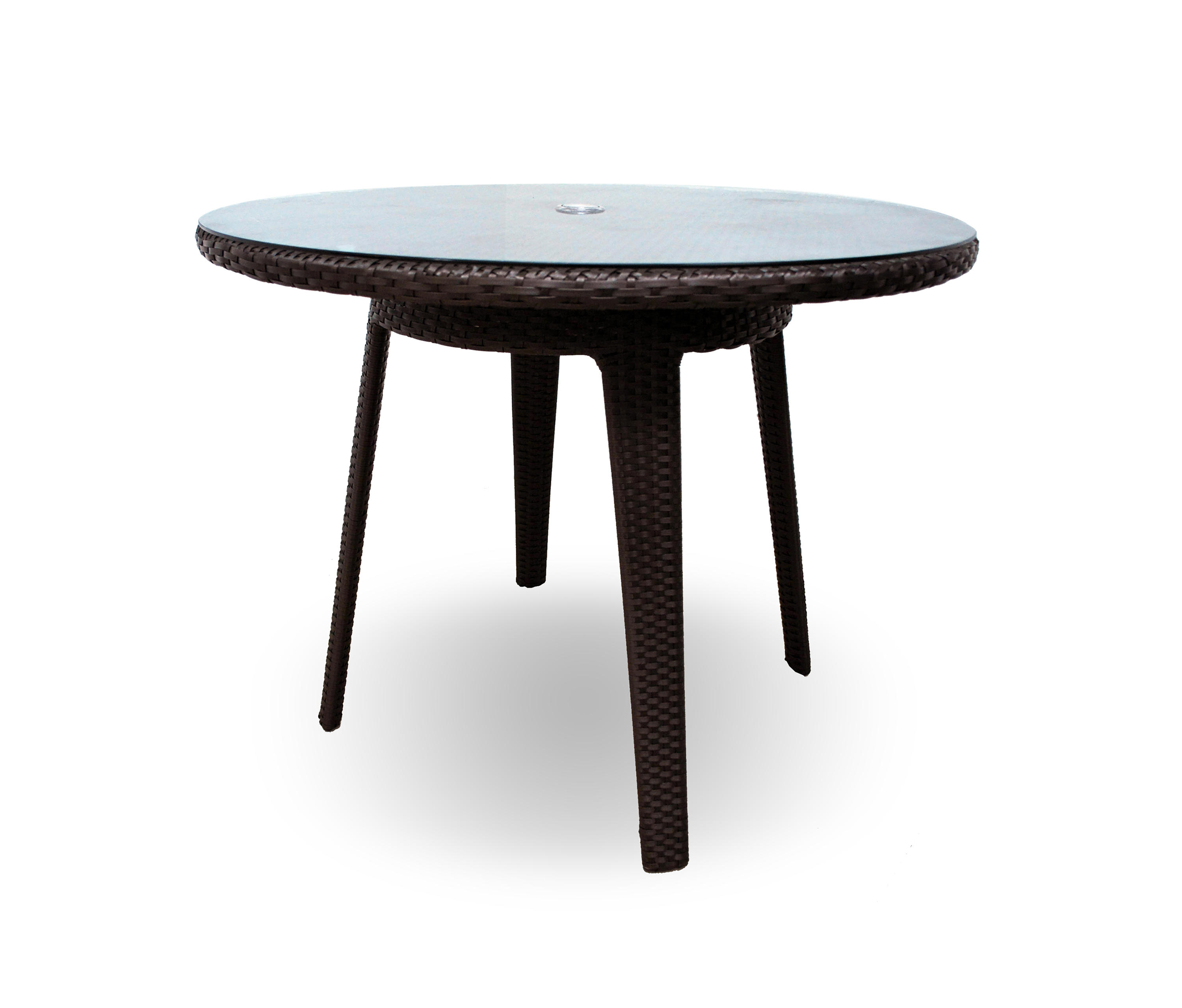 SENNA 40 ROUND DINING TABLE WITH TEMPERED GLASS TOP Dining Tables Fro