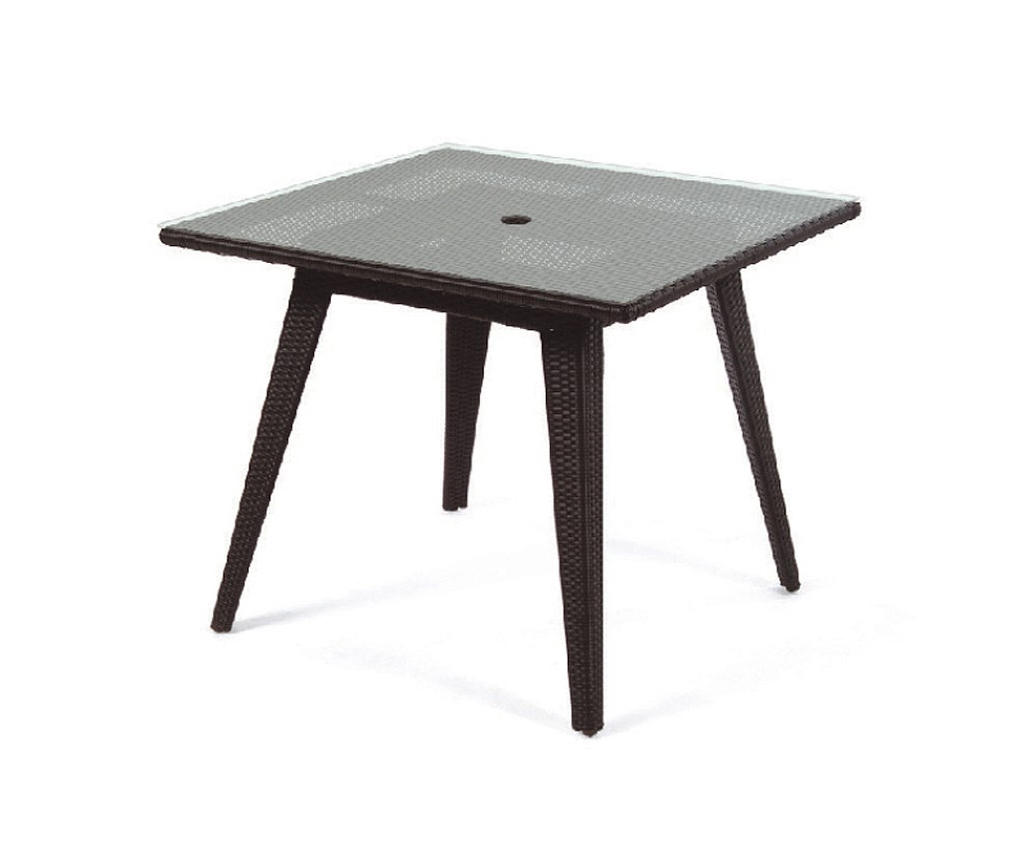 Senna square dining table with tempered glass top dining for Tempered glass dining table