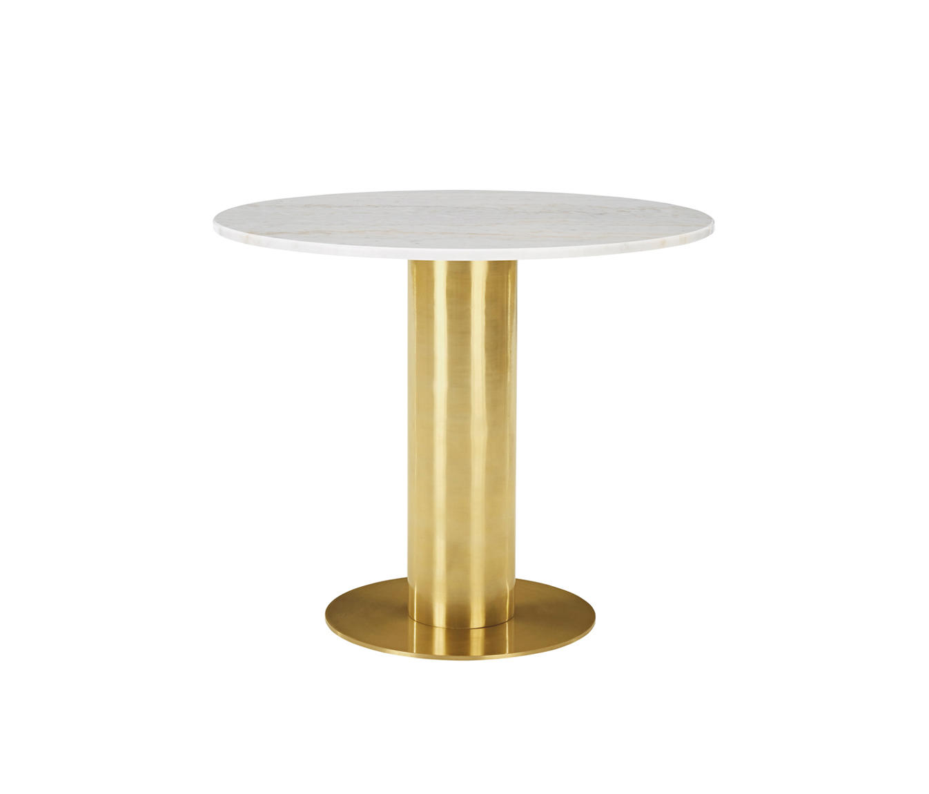 Tube Table White Marble Top 900mm Dining Tables From Tom