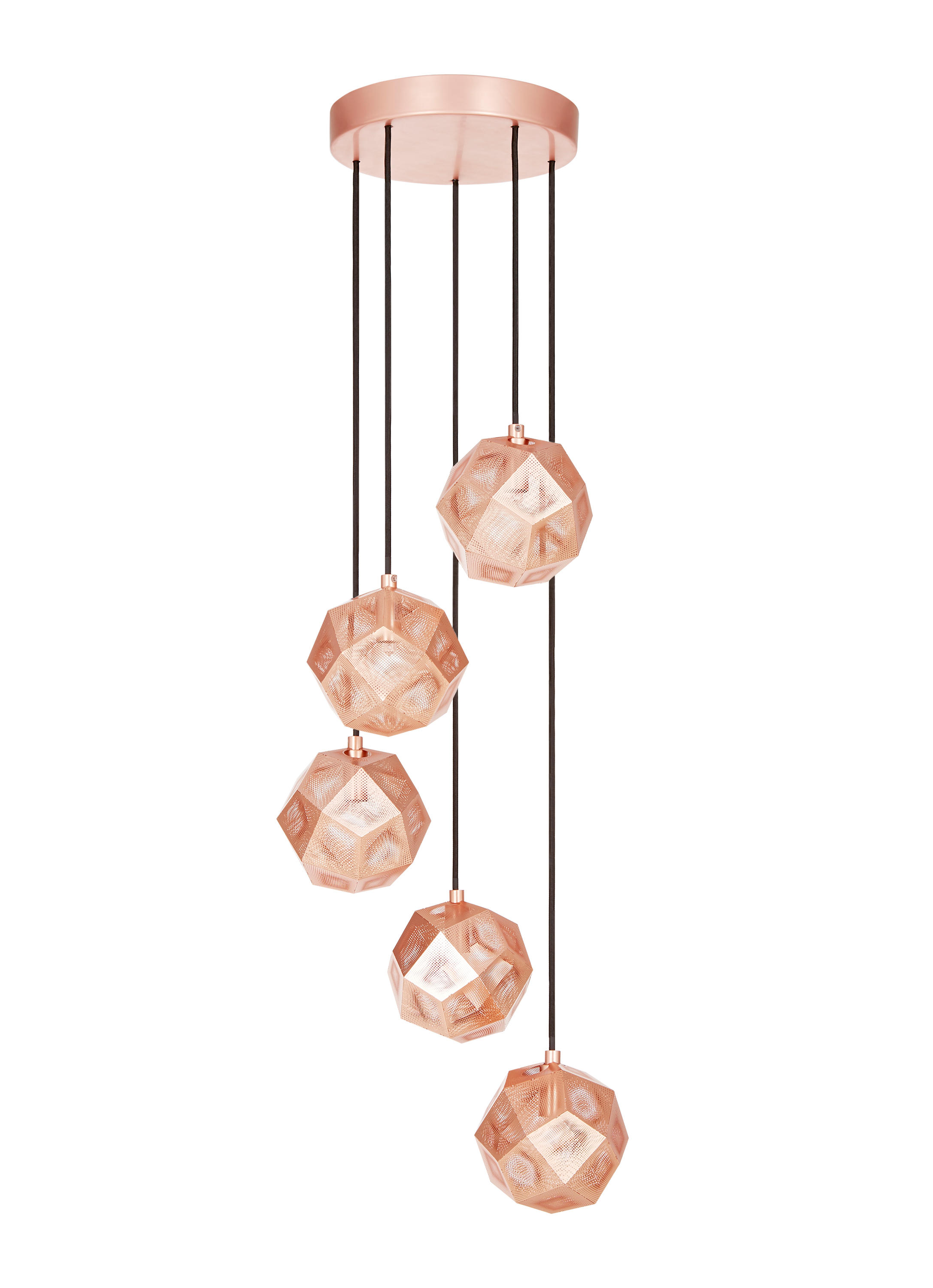 etch mini chandelier copper general lighting from tom dixon architonic. Black Bedroom Furniture Sets. Home Design Ideas