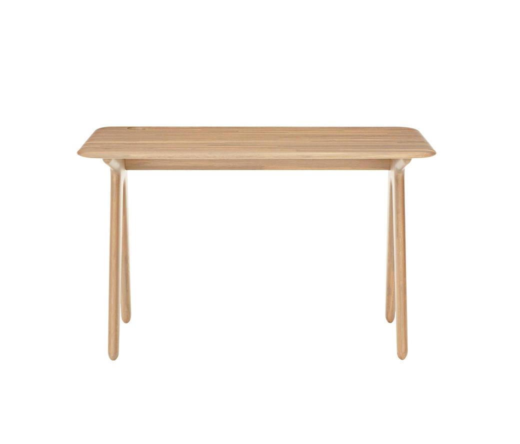 Slab Desk Natural Oak 600x1200 Classroom Desks From Tom