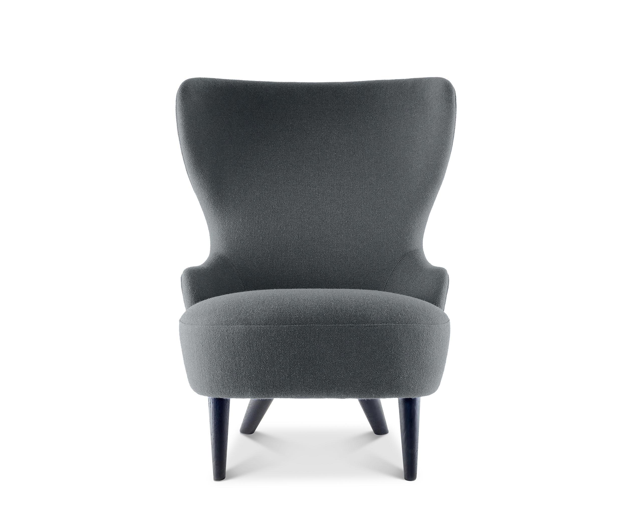 Micro Wingback Chair Black Leg Hallingdal 65 | Architonic