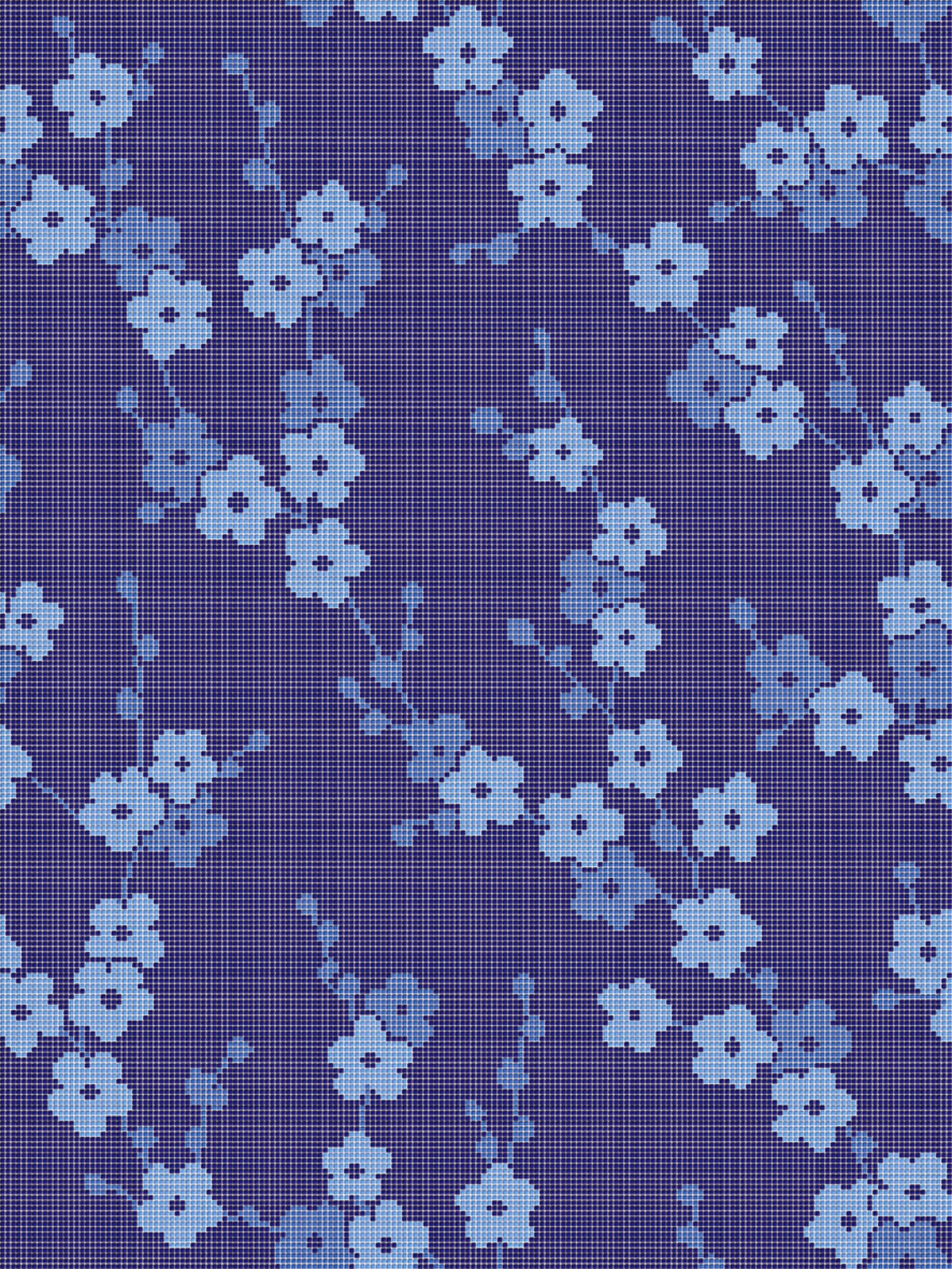 DECOR BLOOMING | CHERRY BLOSSOM BLUE 10X10 - Glass mosaics from ...