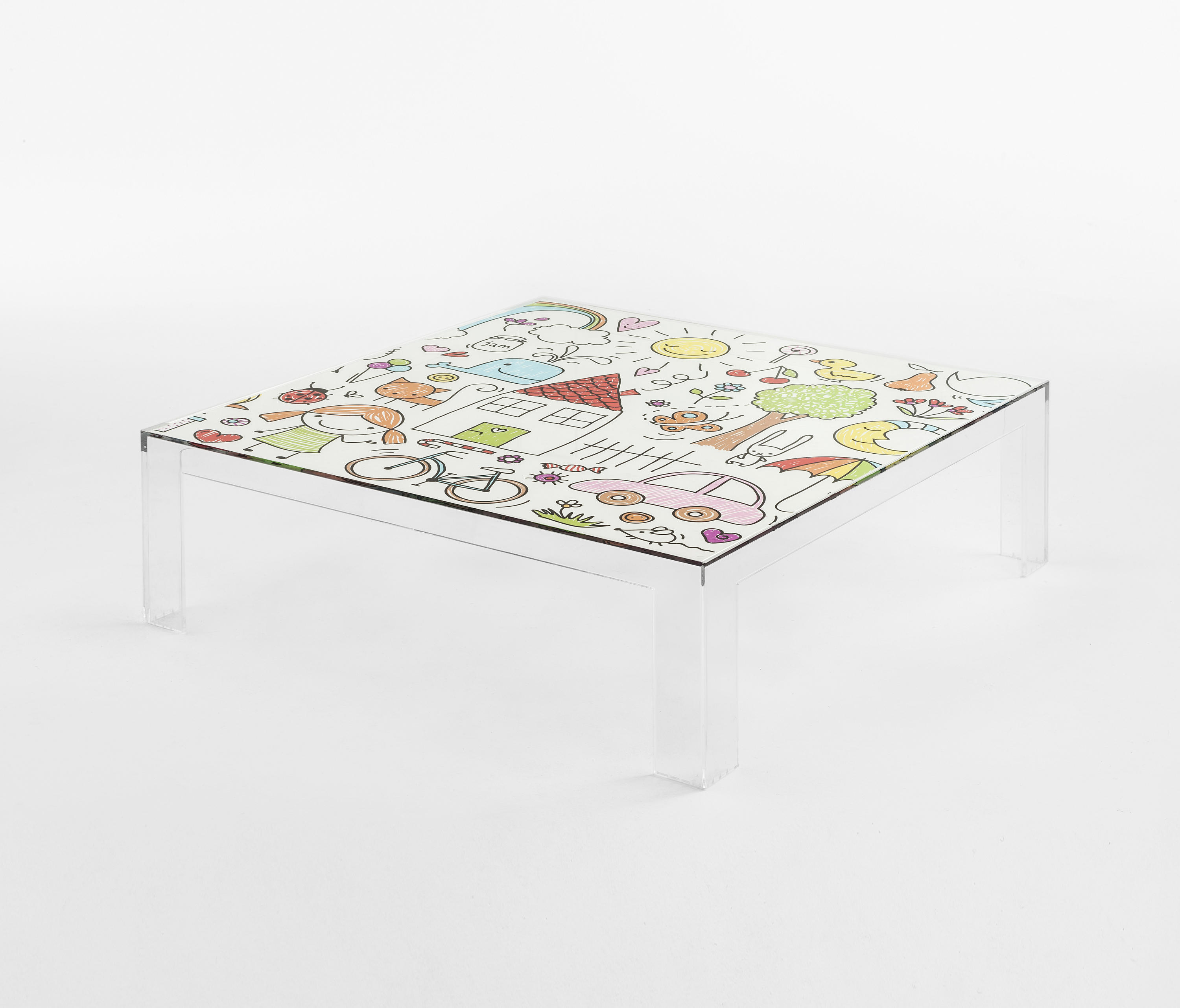Invisible Kids Table Low By Kartell | Childrenu0027s Area