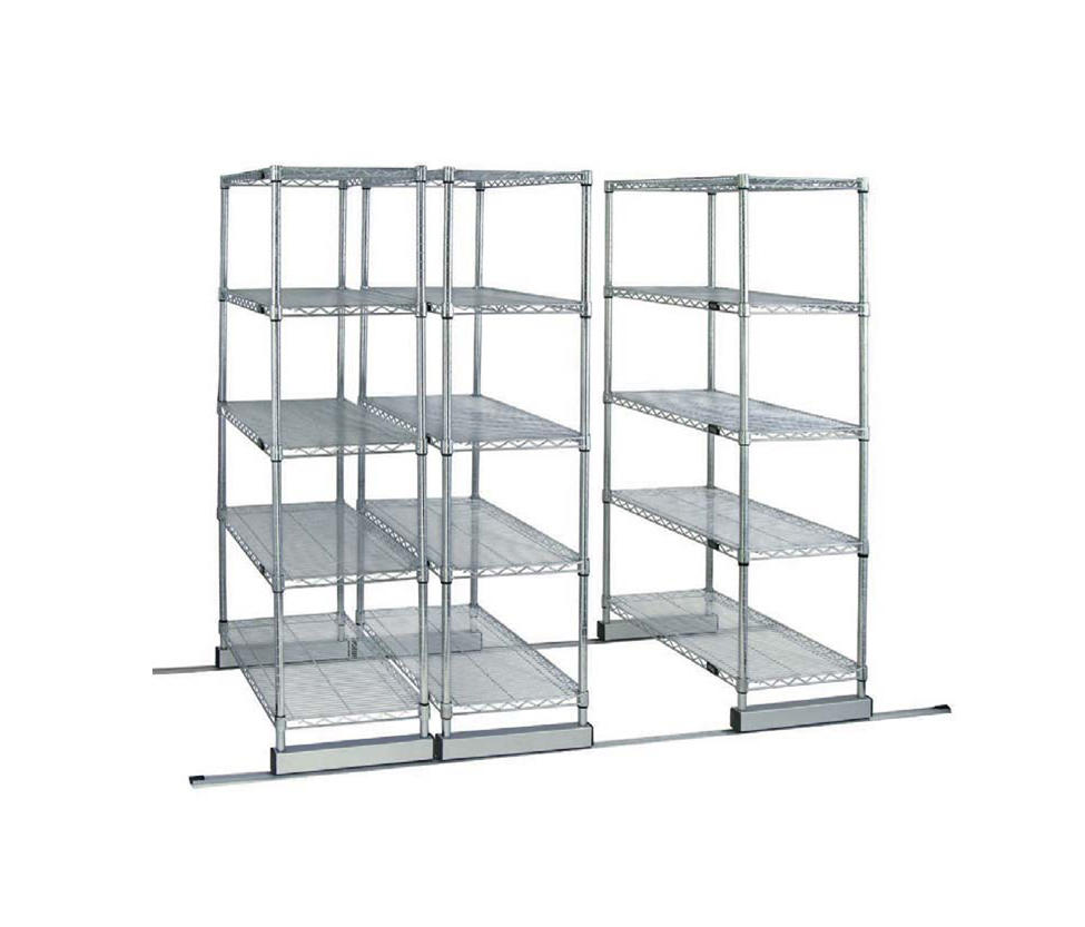 AURORA SKATE TRACK WIRE SHELVING SYSTEM - Office shelving systems ...
