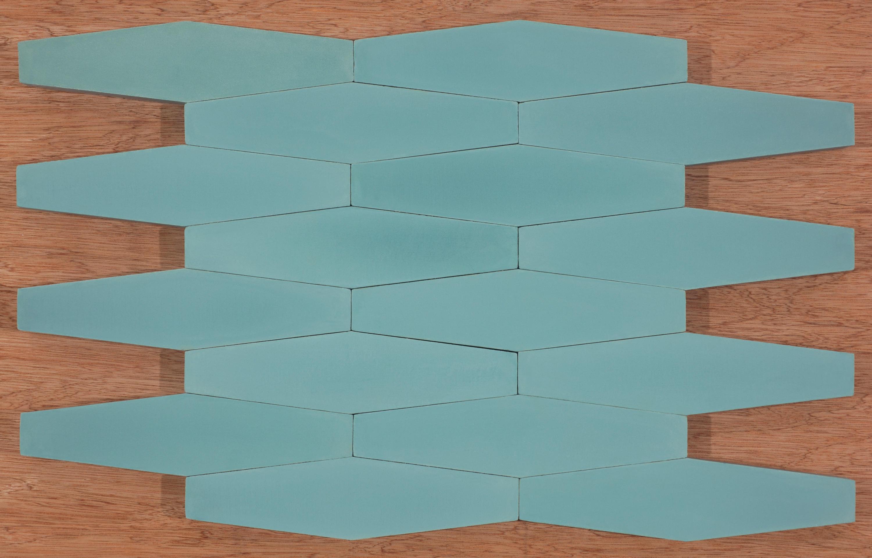 LONG HEX - AQUA - Concrete tiles from Granada Tile | Architonic