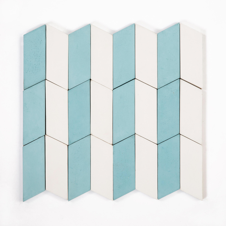 LONG-ACCORDION-PARADE-AQUA-WHITE - Tiles from Granada Tile | Architonic