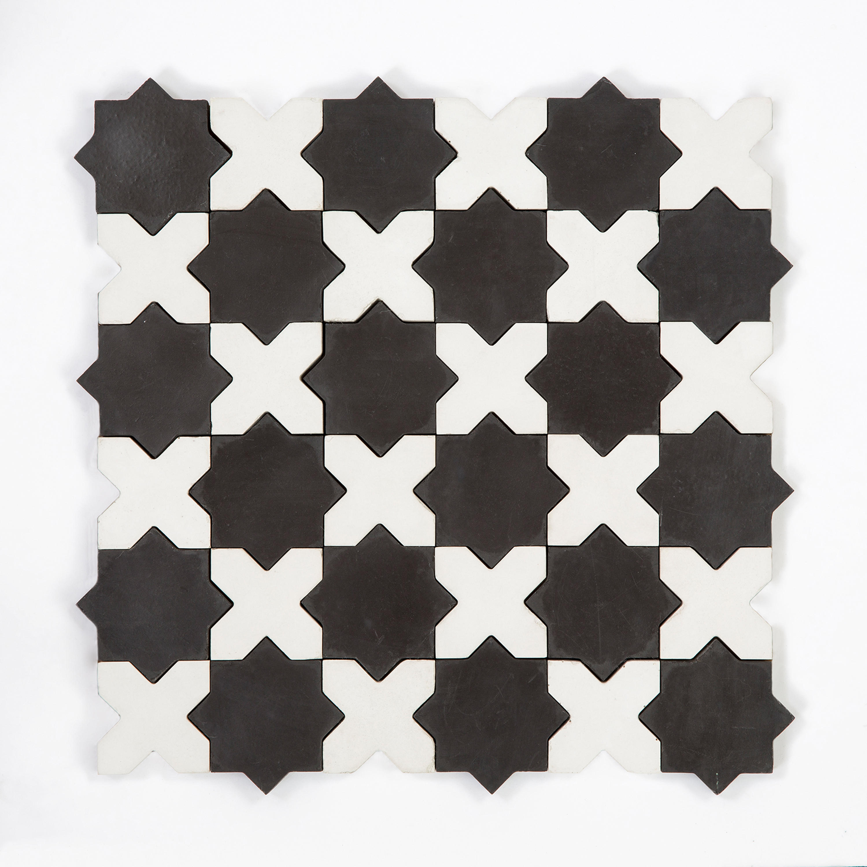 STAR & CROSS-BLACKWHITE - Concrete tiles from Granada Tile | Architonic